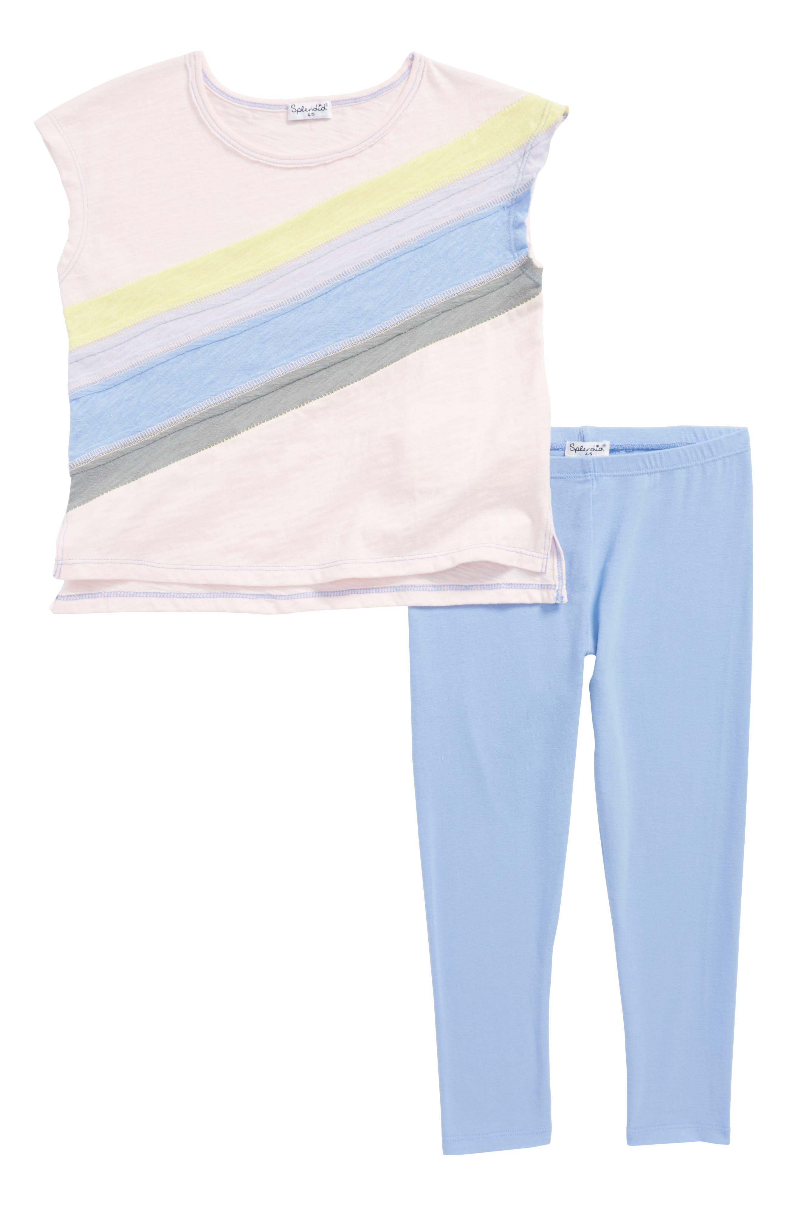 Rainbow Tee & Leggings Set,                         Main,                         color, 680
