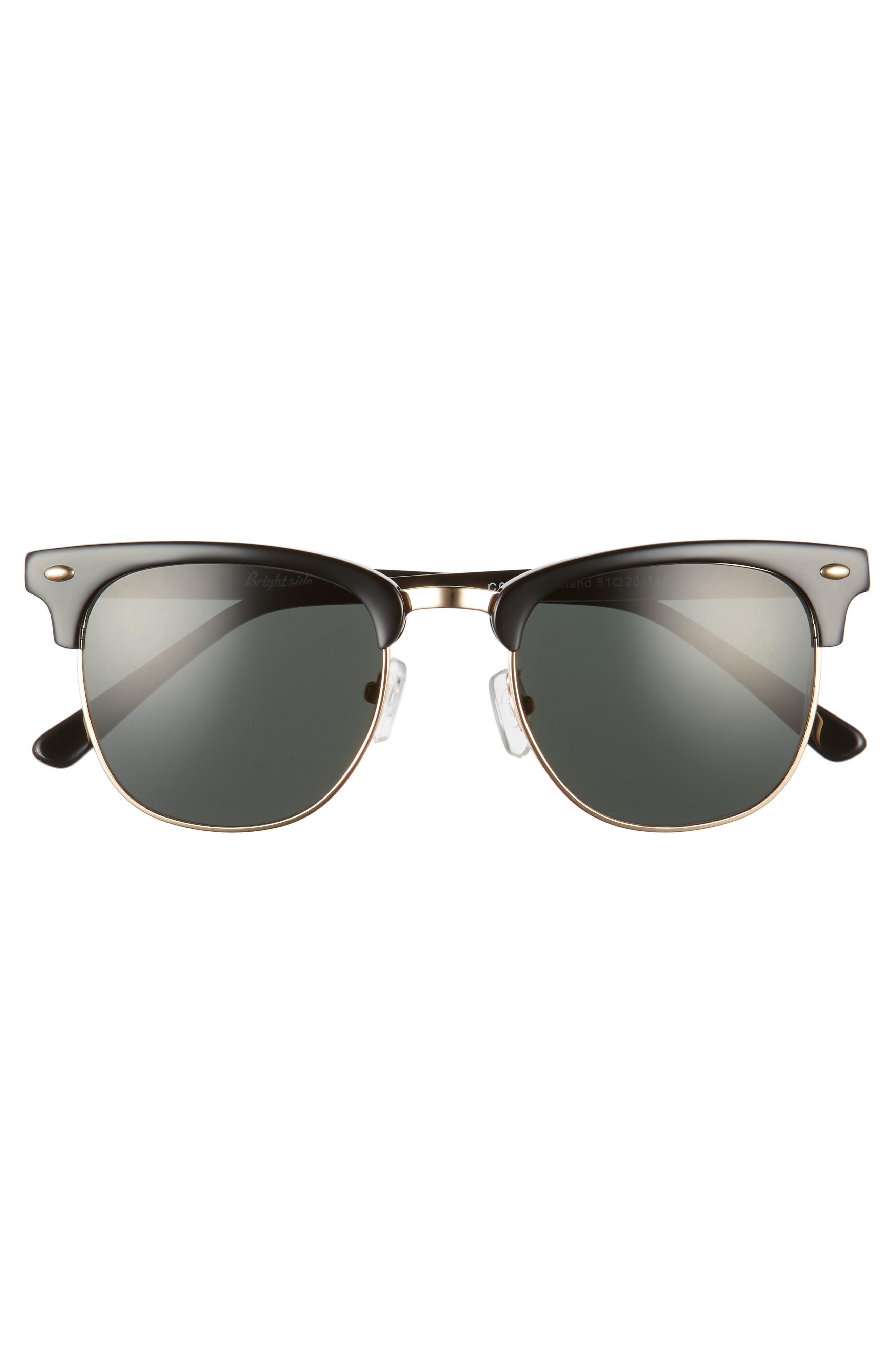 Copeland 51mm Sunglasses,                             Alternate thumbnail 3, color,                             BLACK/ GREY