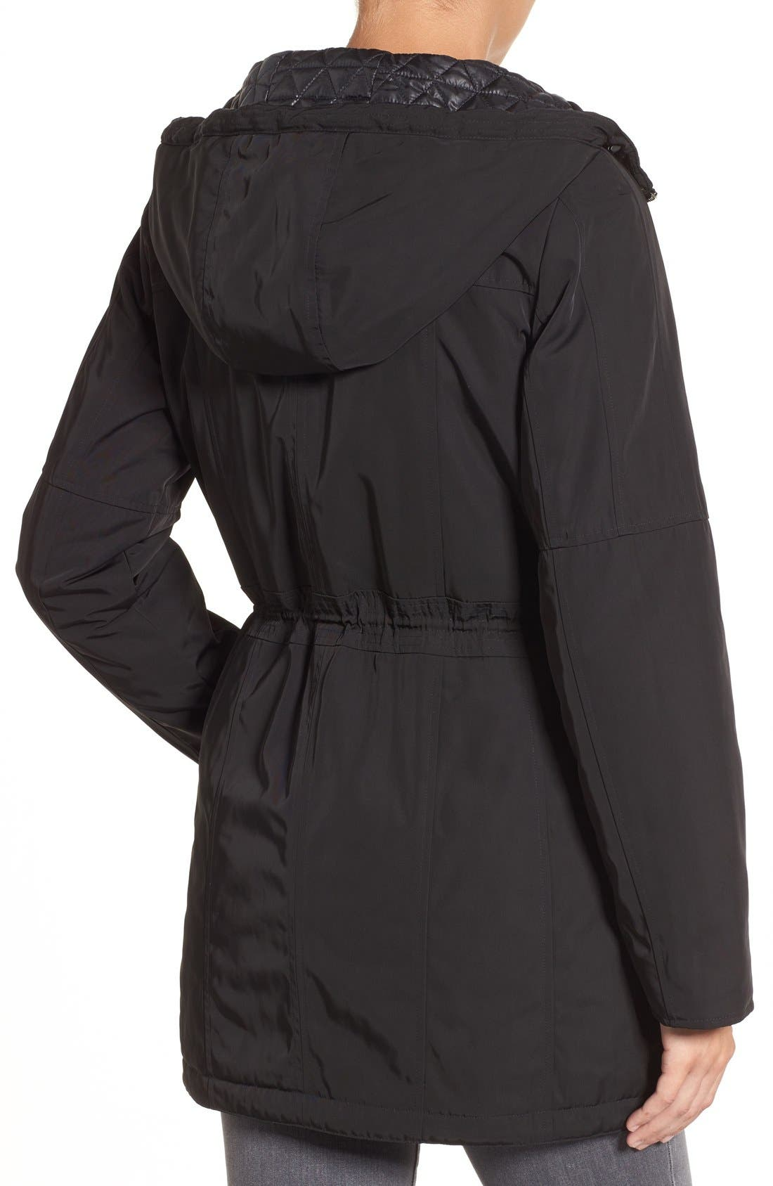 Marc New York by Andrew Marc 'Chrissy' Rain Coat with Removable Hood,                             Alternate thumbnail 2, color,                             001