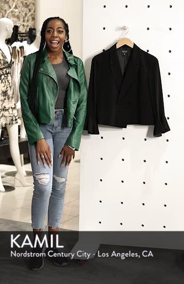 Frill Sleeve Double Breasted Jacket, sales video thumbnail
