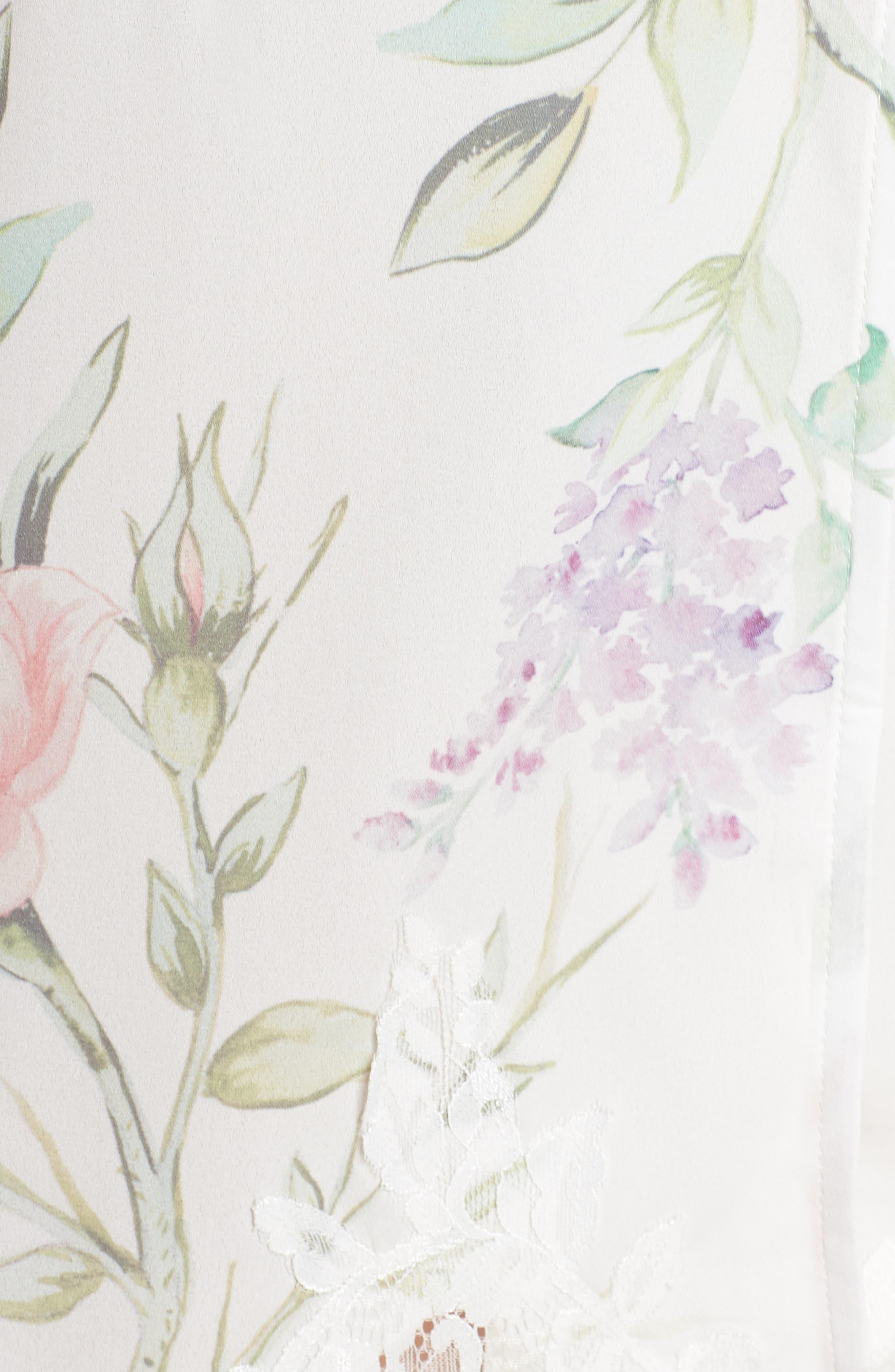 Sofia Kimono Robe,                             Alternate thumbnail 5, color,                             PURPLE FLORAL