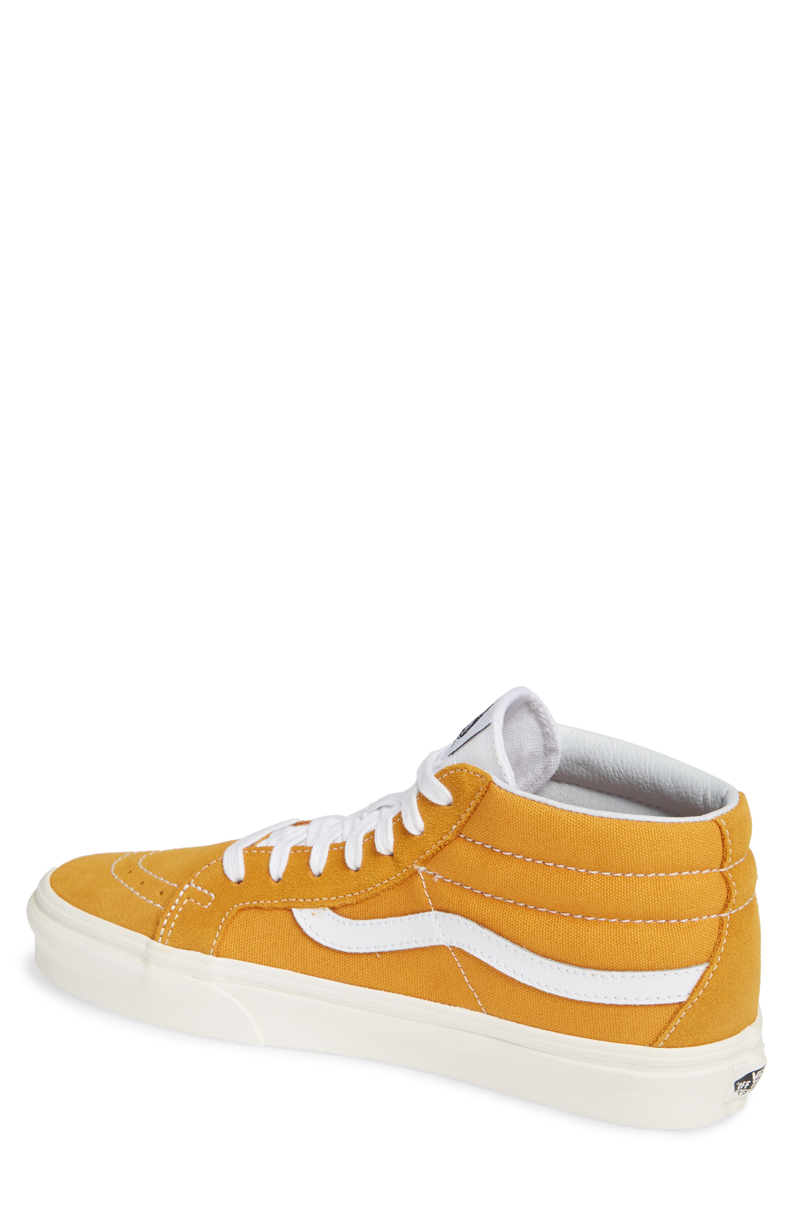 Sk8-Mid Reissue Sneaker,                             Alternate thumbnail 2, color,                             SUNFLOWER CANVAS/SUEDE