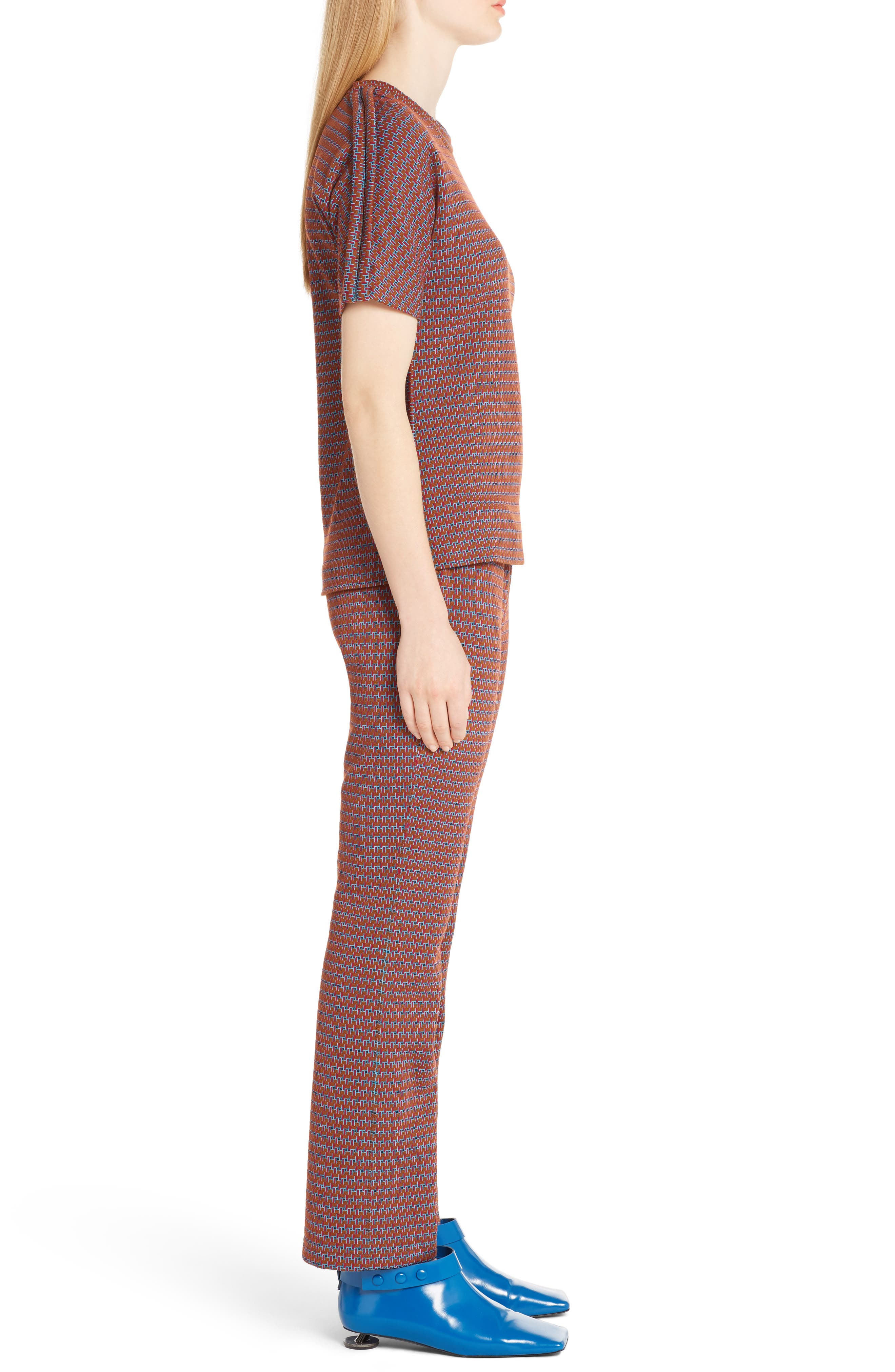 Micro Pattern Jersey Top,                             Alternate thumbnail 3, color,                             600