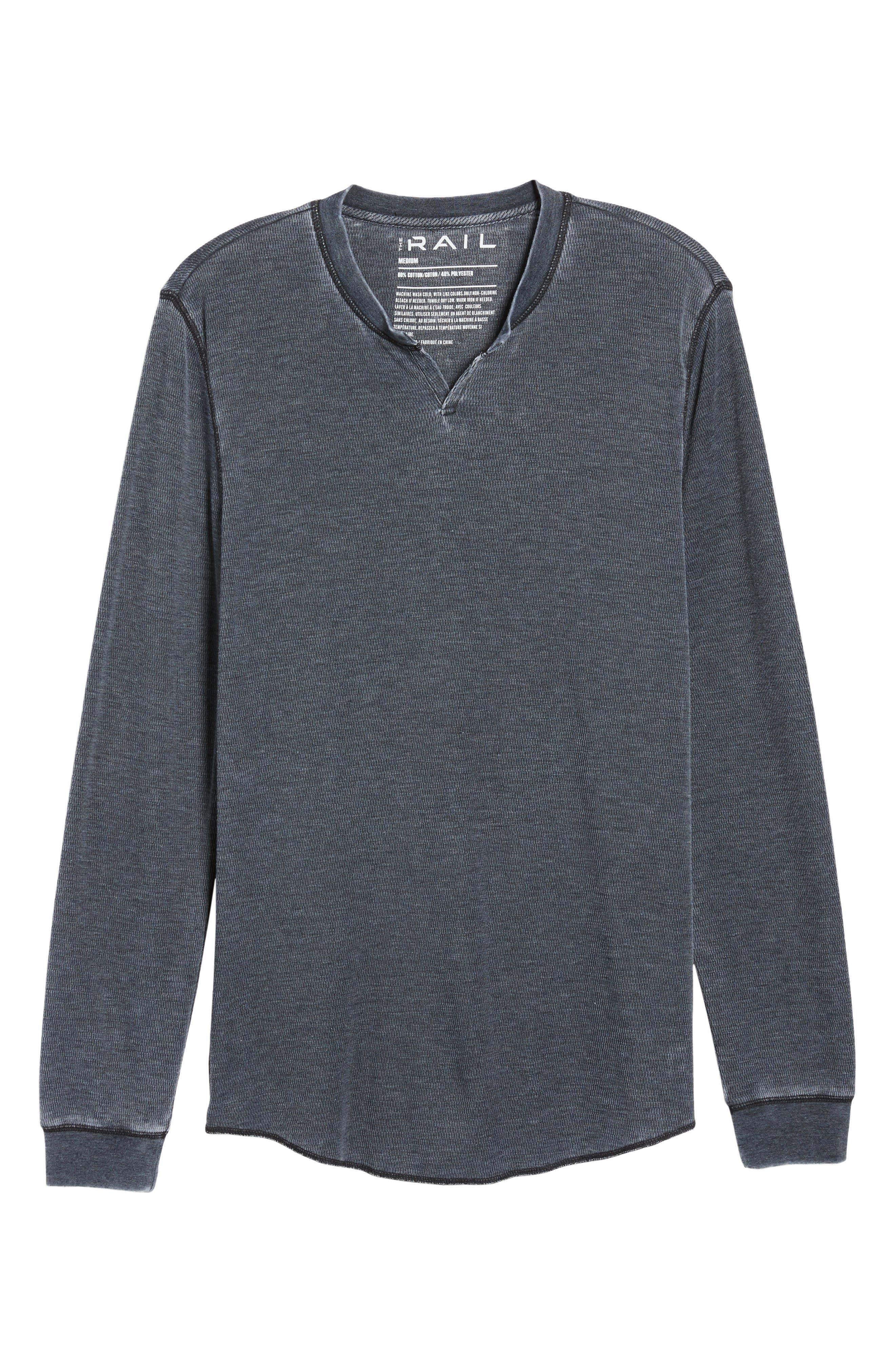 THE RAIL,                             Notch Neck Thermal T-Shirt,                             Alternate thumbnail 6, color,                             001