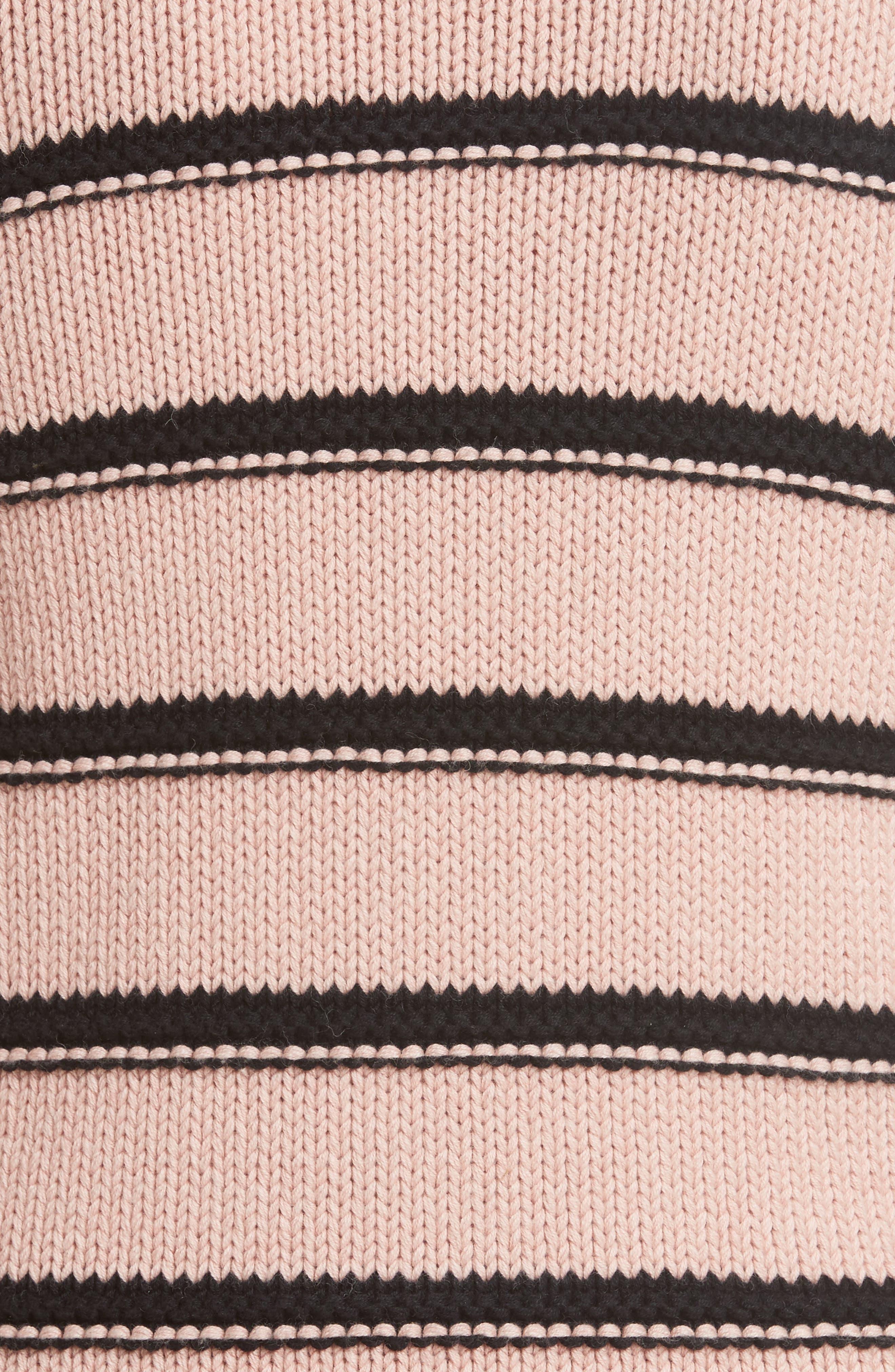 Stripe Cotton & Merino Wool Sweater,                             Alternate thumbnail 5, color,                             695