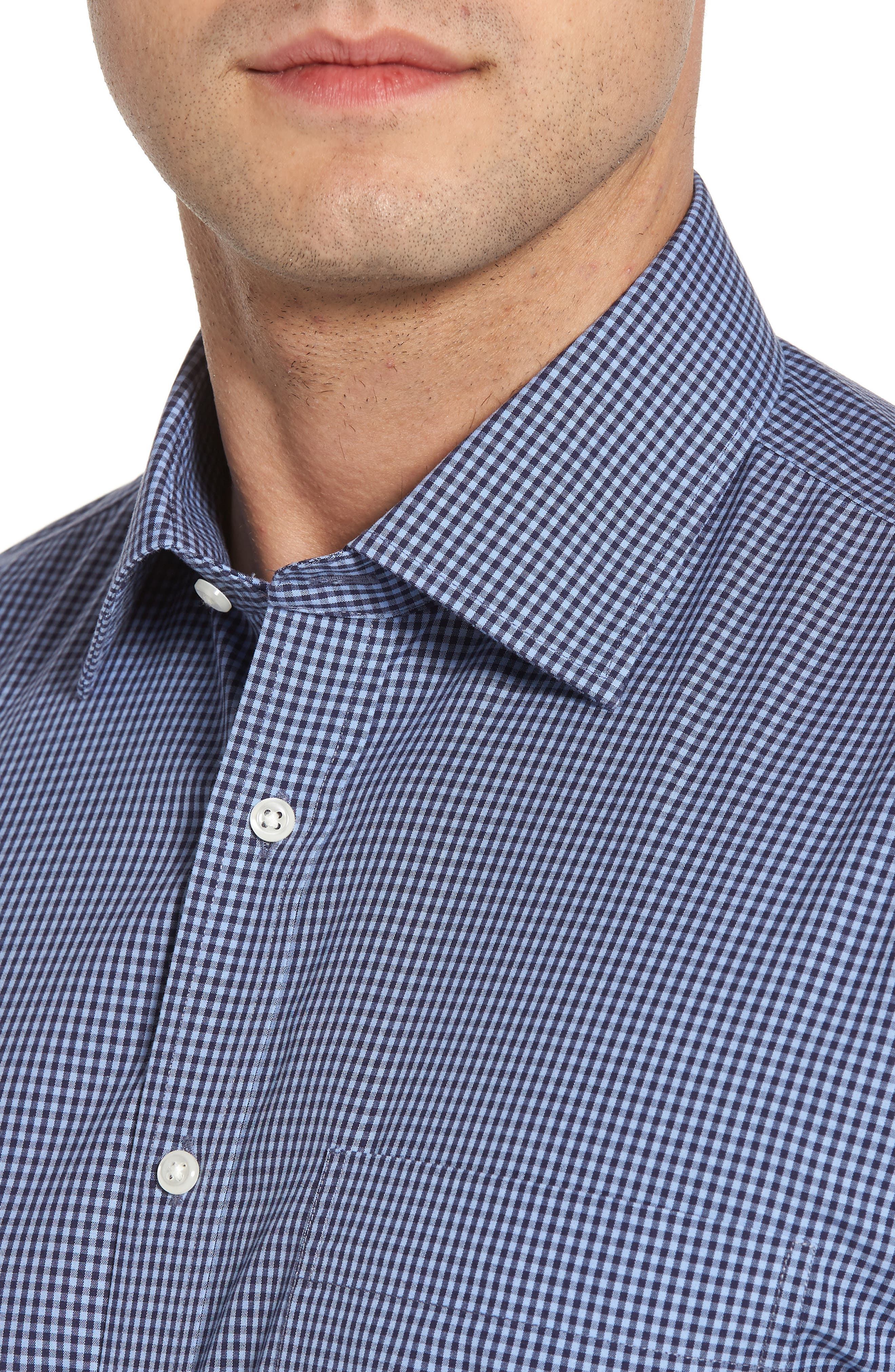 Smartcare Classic Fit Check Dress Shirt,                             Alternate thumbnail 6, color,