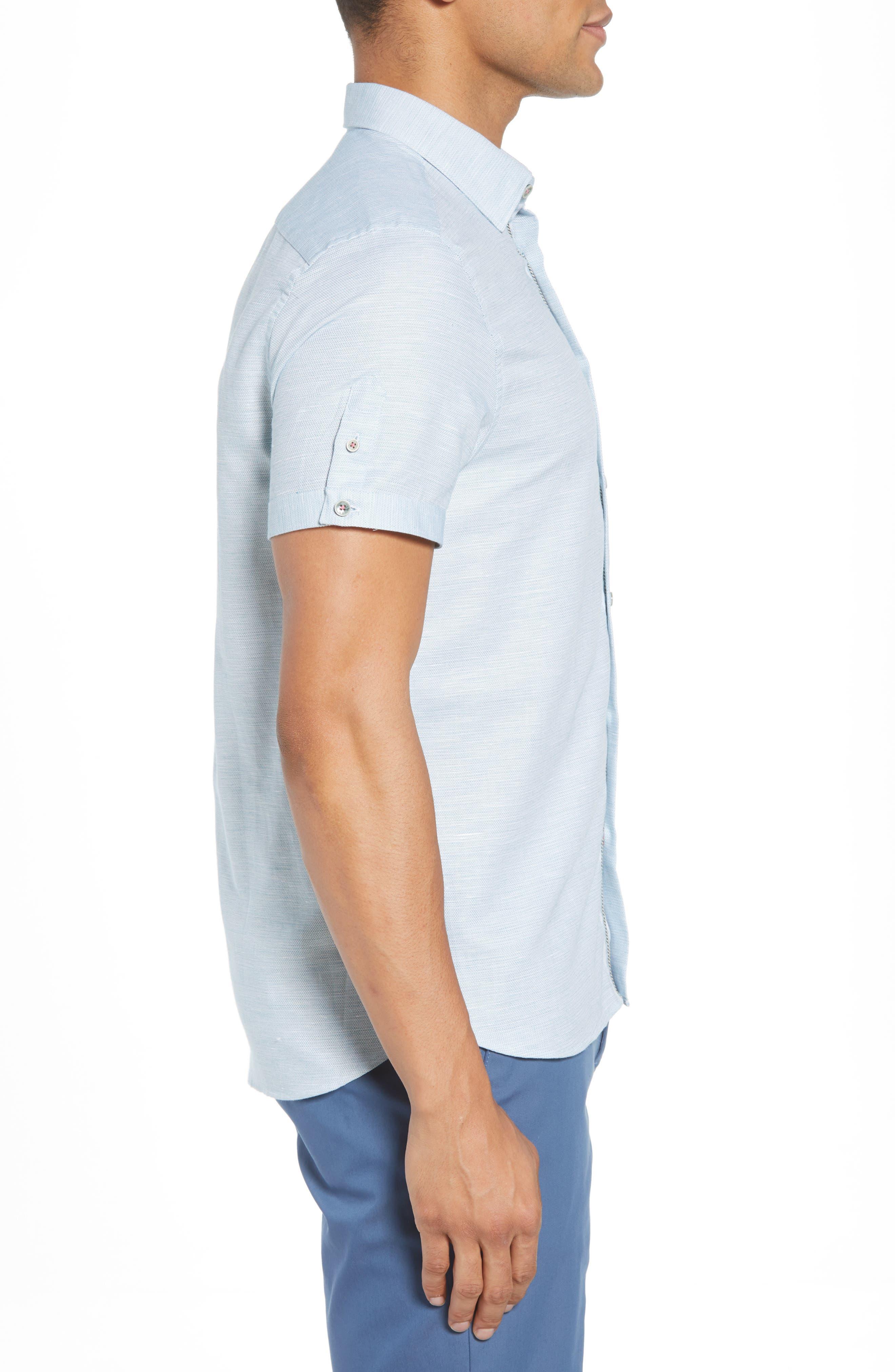 Slim Fit Sport Shirt,                             Alternate thumbnail 13, color,