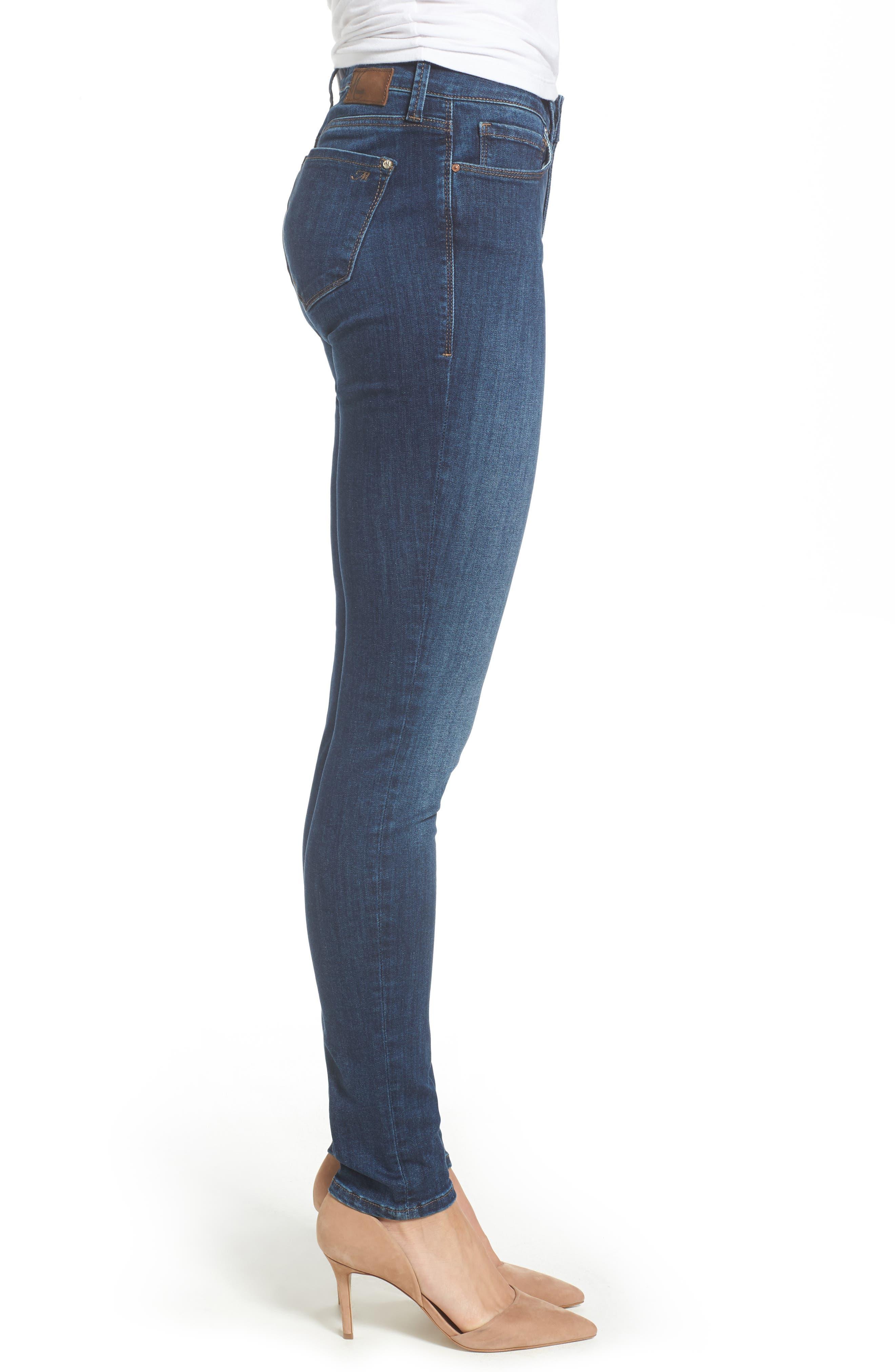 Adriana Stretch Skinny Jeans,                             Alternate thumbnail 3, color,                             401