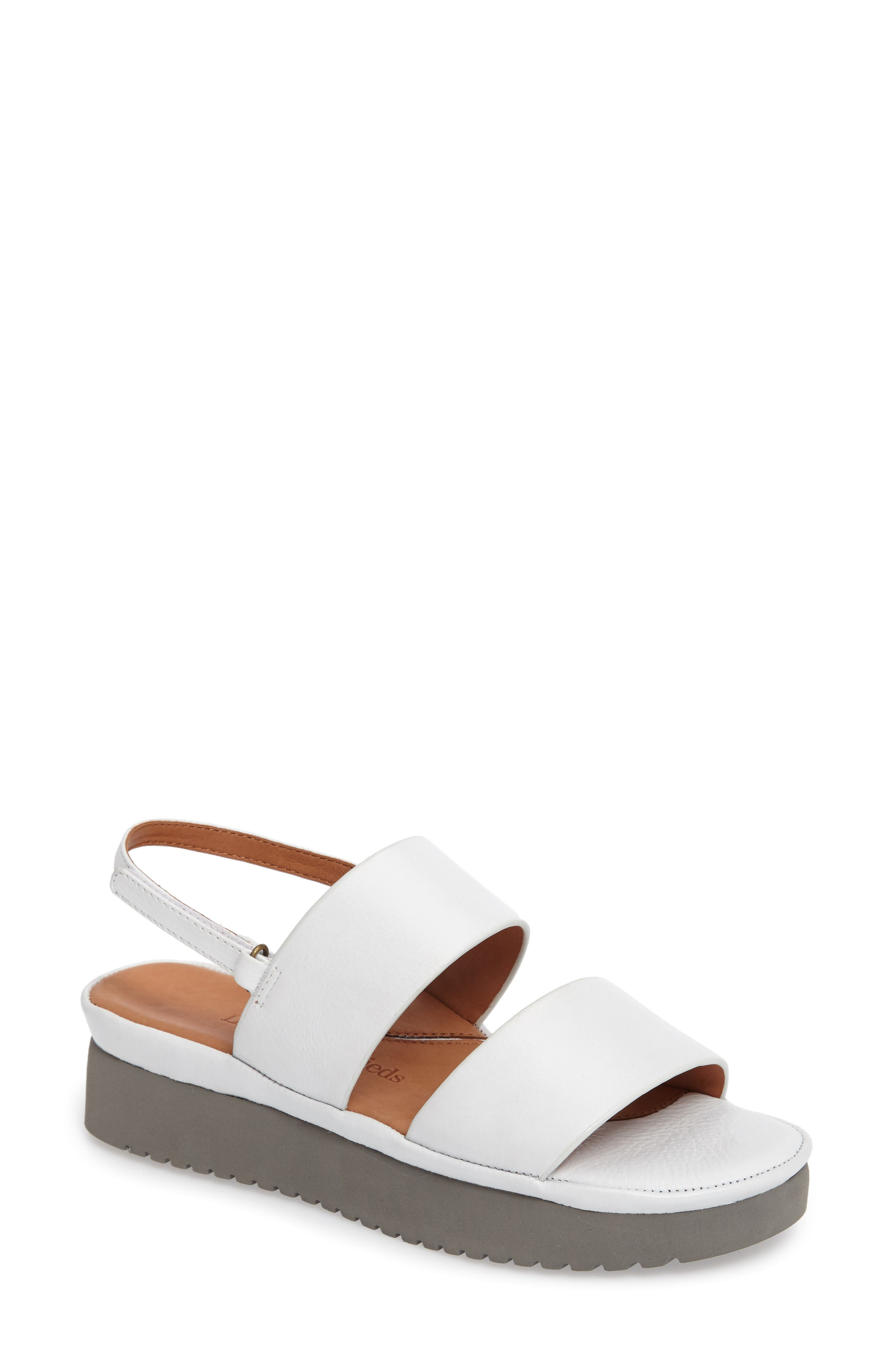 Abruzzo Slingback Platform Wedge Sandal,                         Main,                         color, WHITE LEATHER