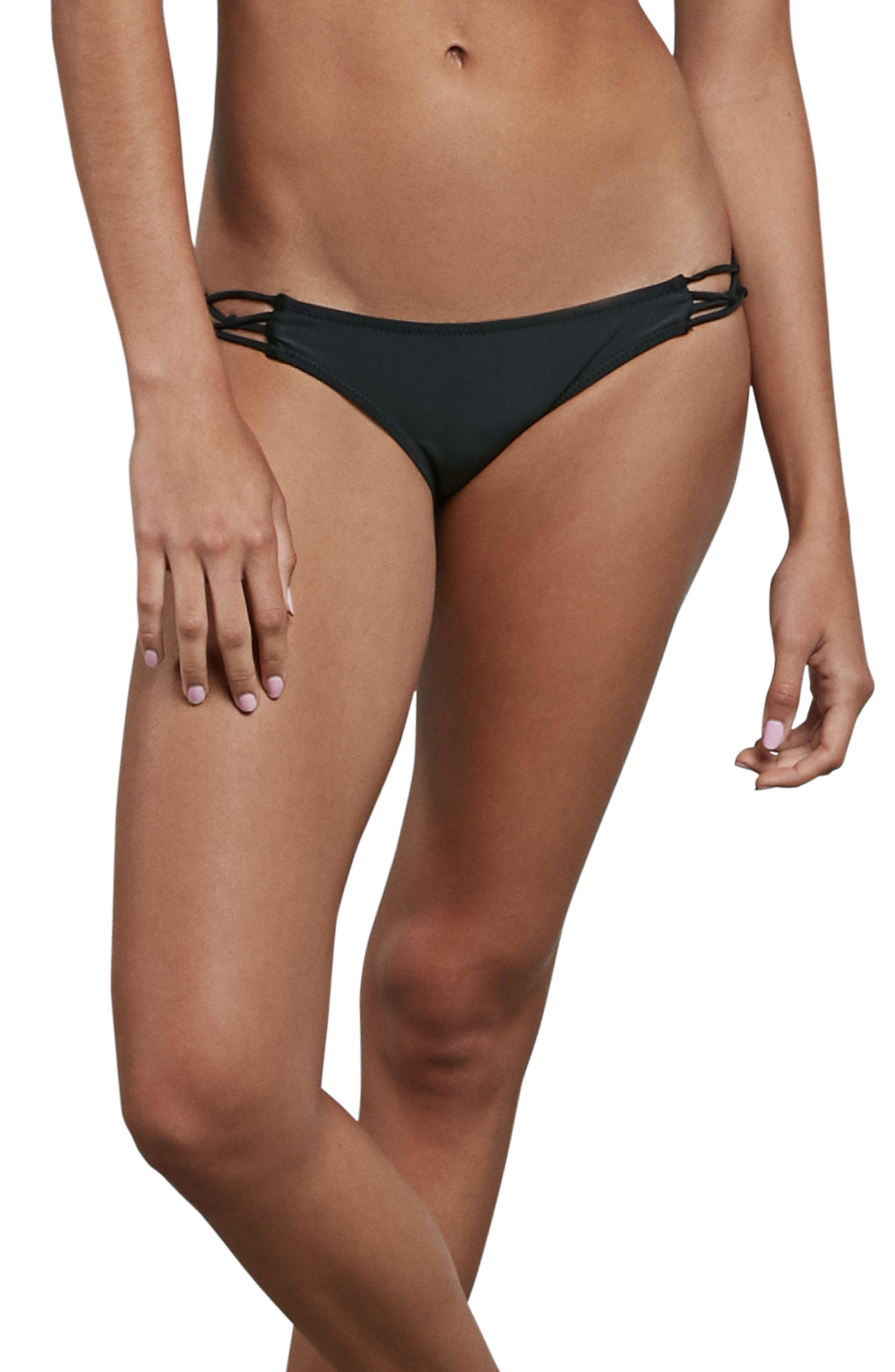 Simply Solid Macrame Bikini Bottoms,                         Main,                         color,