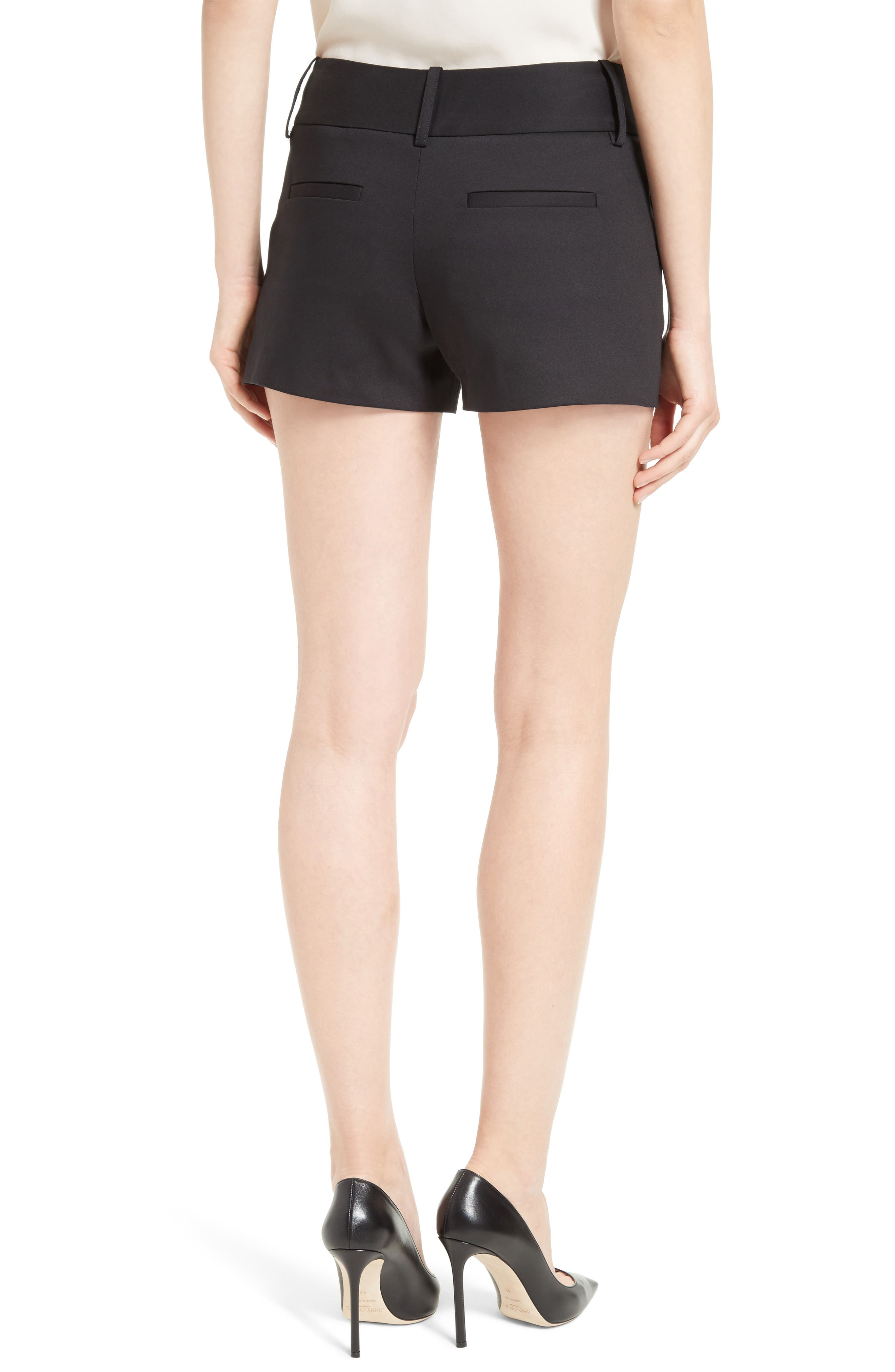 Cady Cotton Blend Shorts,                             Alternate thumbnail 2, color,                             001