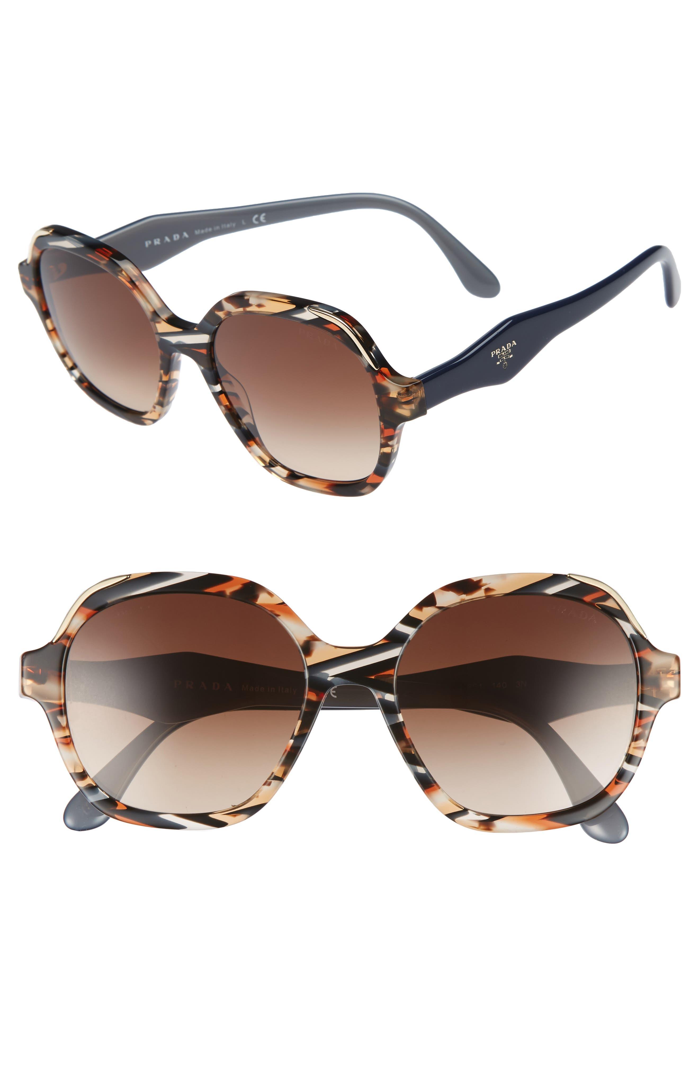 52mm Geometric Gradient Sunglasses,                             Main thumbnail 2, color,