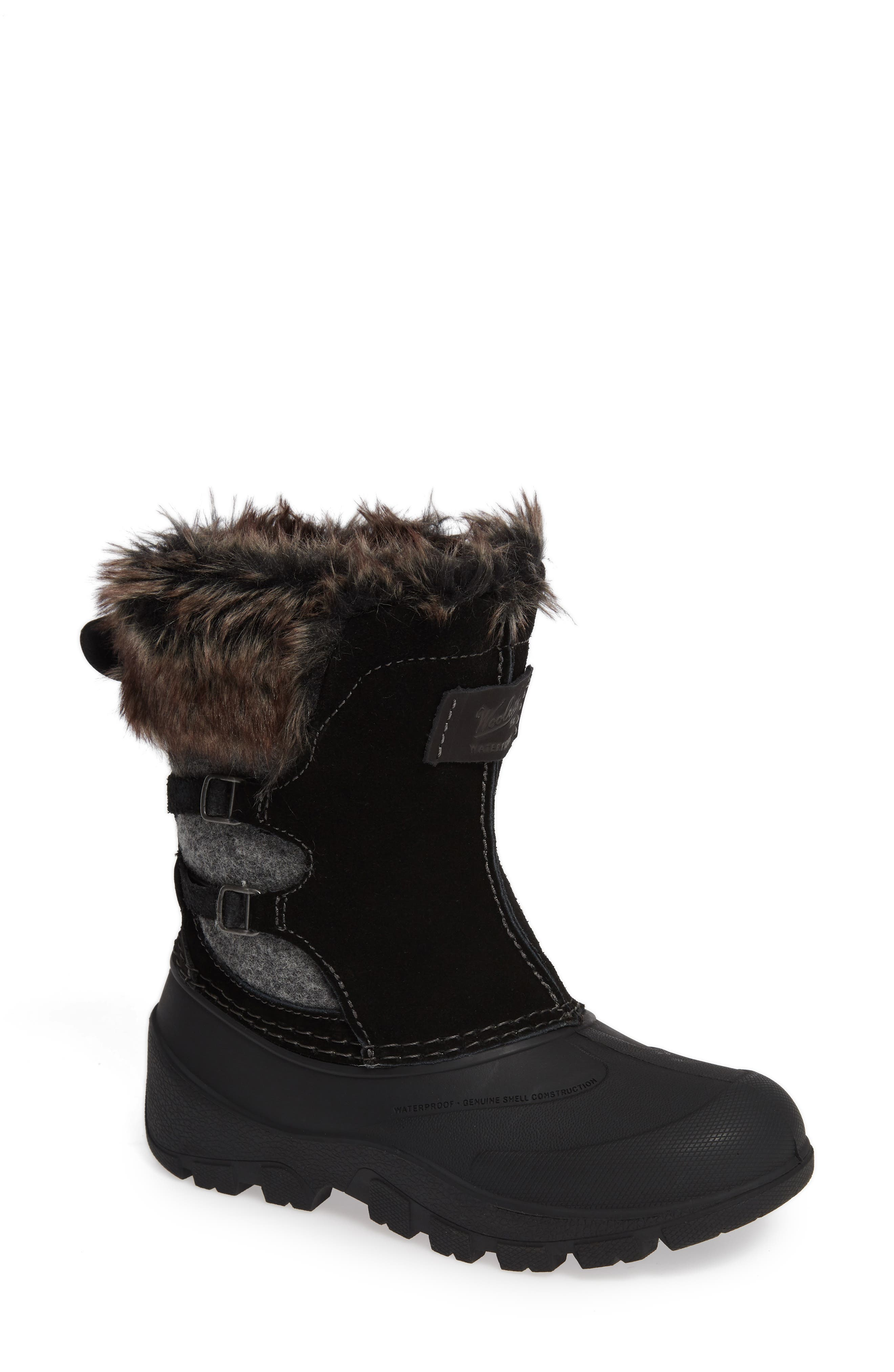 Icecat II Fully Wooly Waterproof Insulated Winter Boot,                         Main,                         color, BLACK WOOL