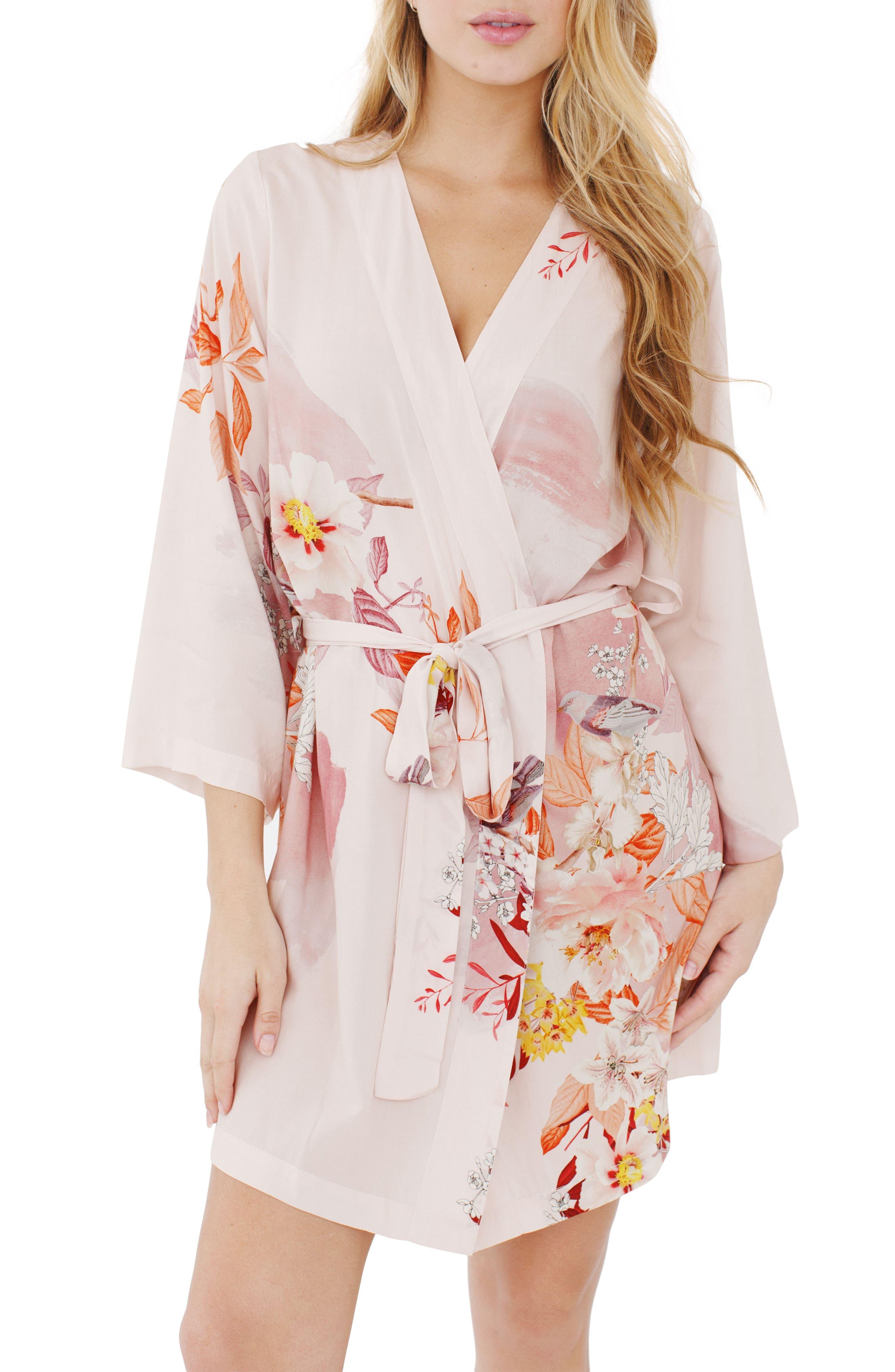 Floral Kimono Robe,                         Main,                         color, 680