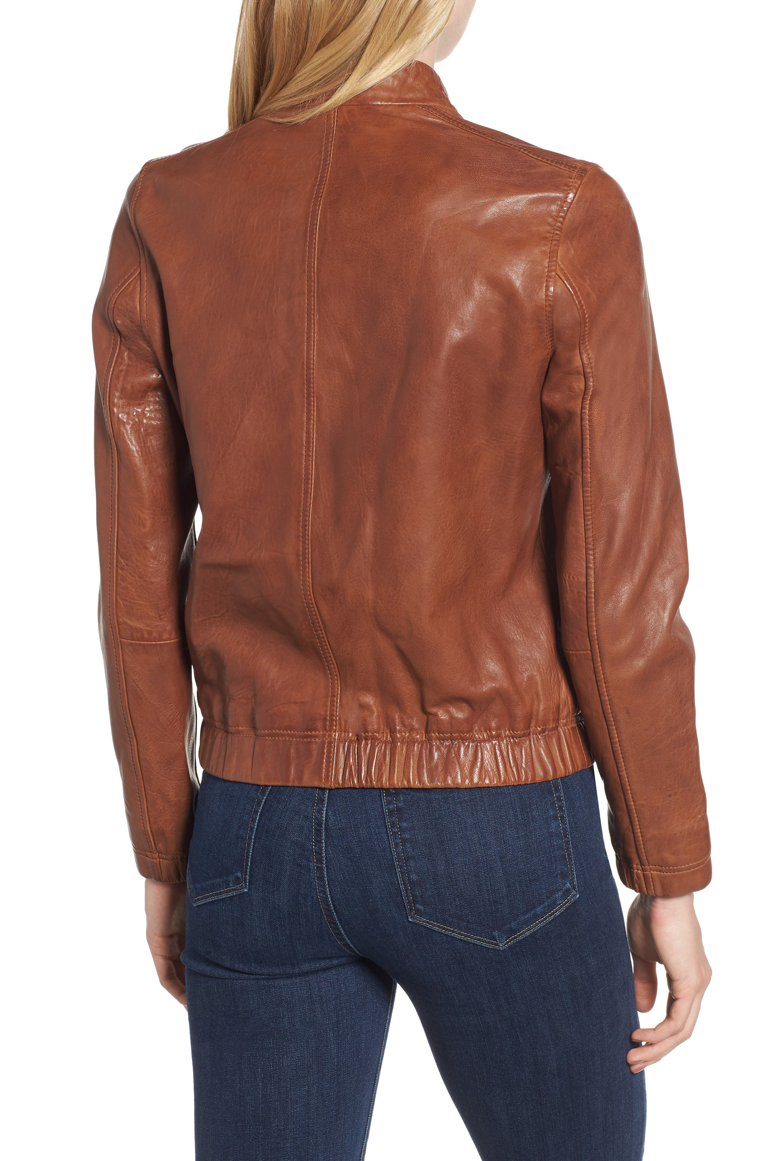 LUCKY BRAND,                             Ana Leather Jacket,                             Alternate thumbnail 2, color,                             210