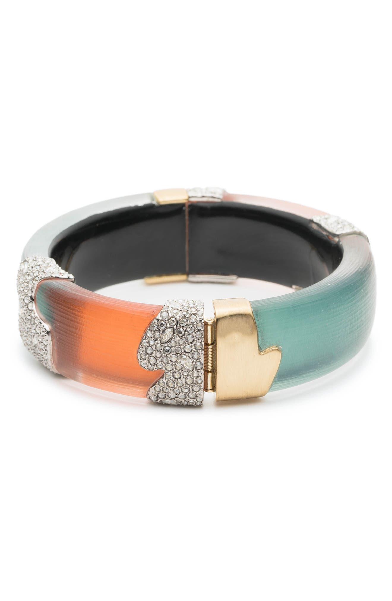 Crystal Encrusted Colorblock Bracelet,                             Alternate thumbnail 2, color,                             440
