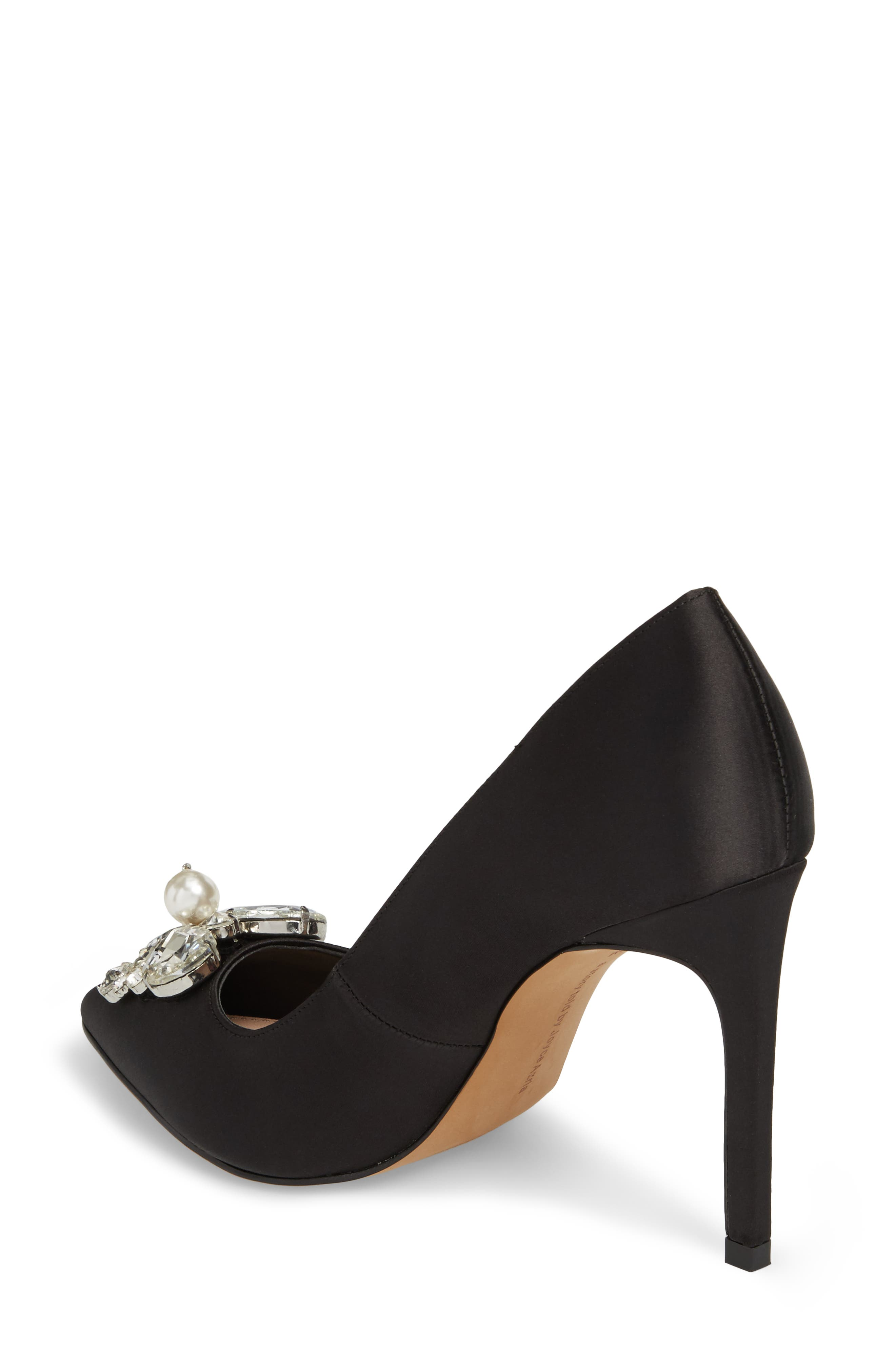 Chiara Embellished Pointy Toe Pump,                             Alternate thumbnail 2, color,                             001