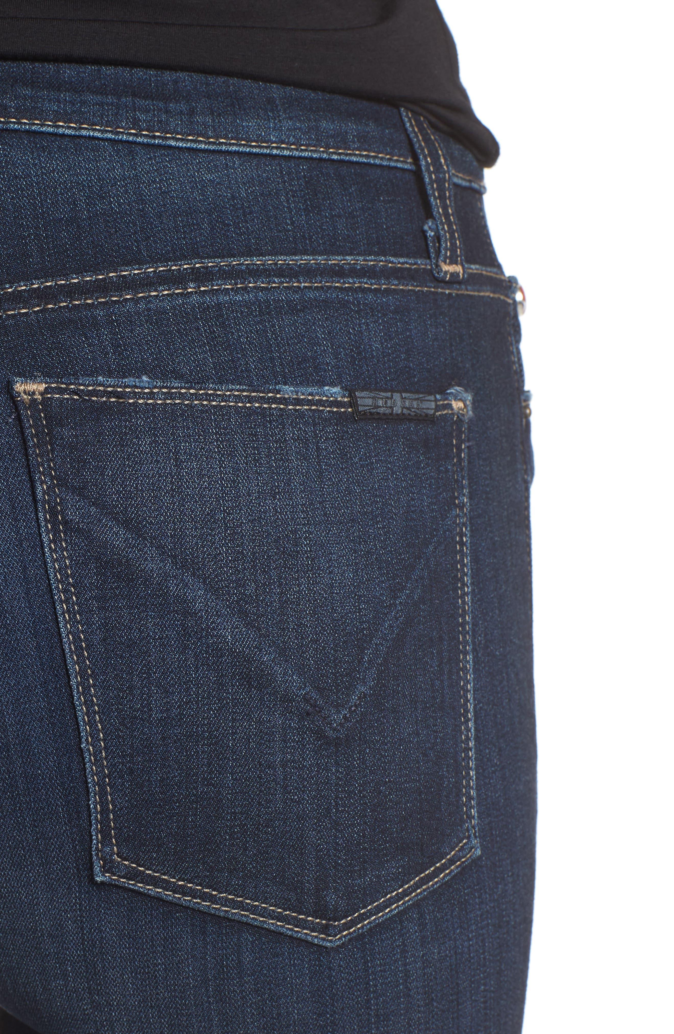 Barbara High Waist Super Skinny Jeans,                             Alternate thumbnail 8, color,
