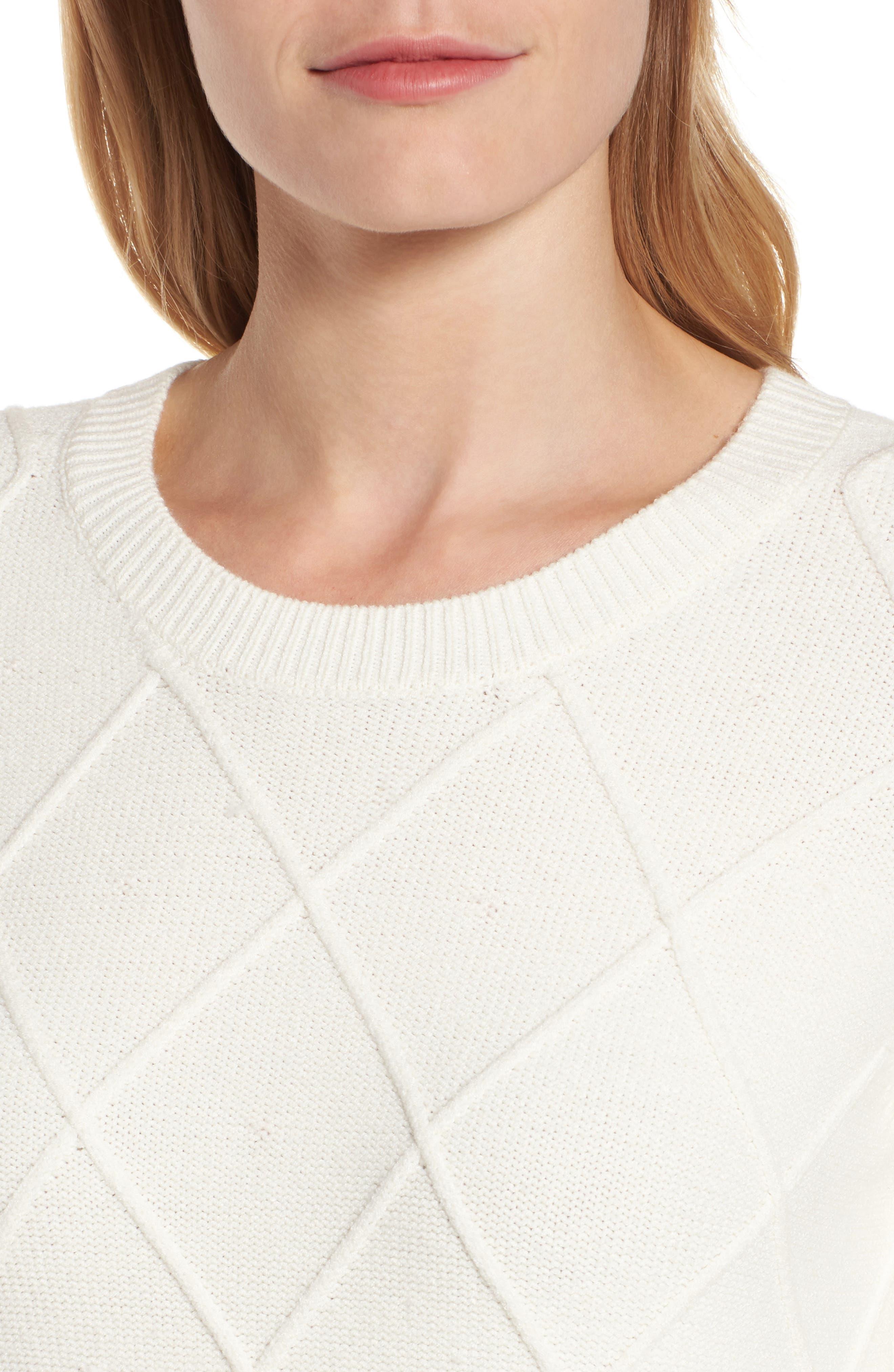 Argyle Dot Sweater,                             Alternate thumbnail 4, color,                             130