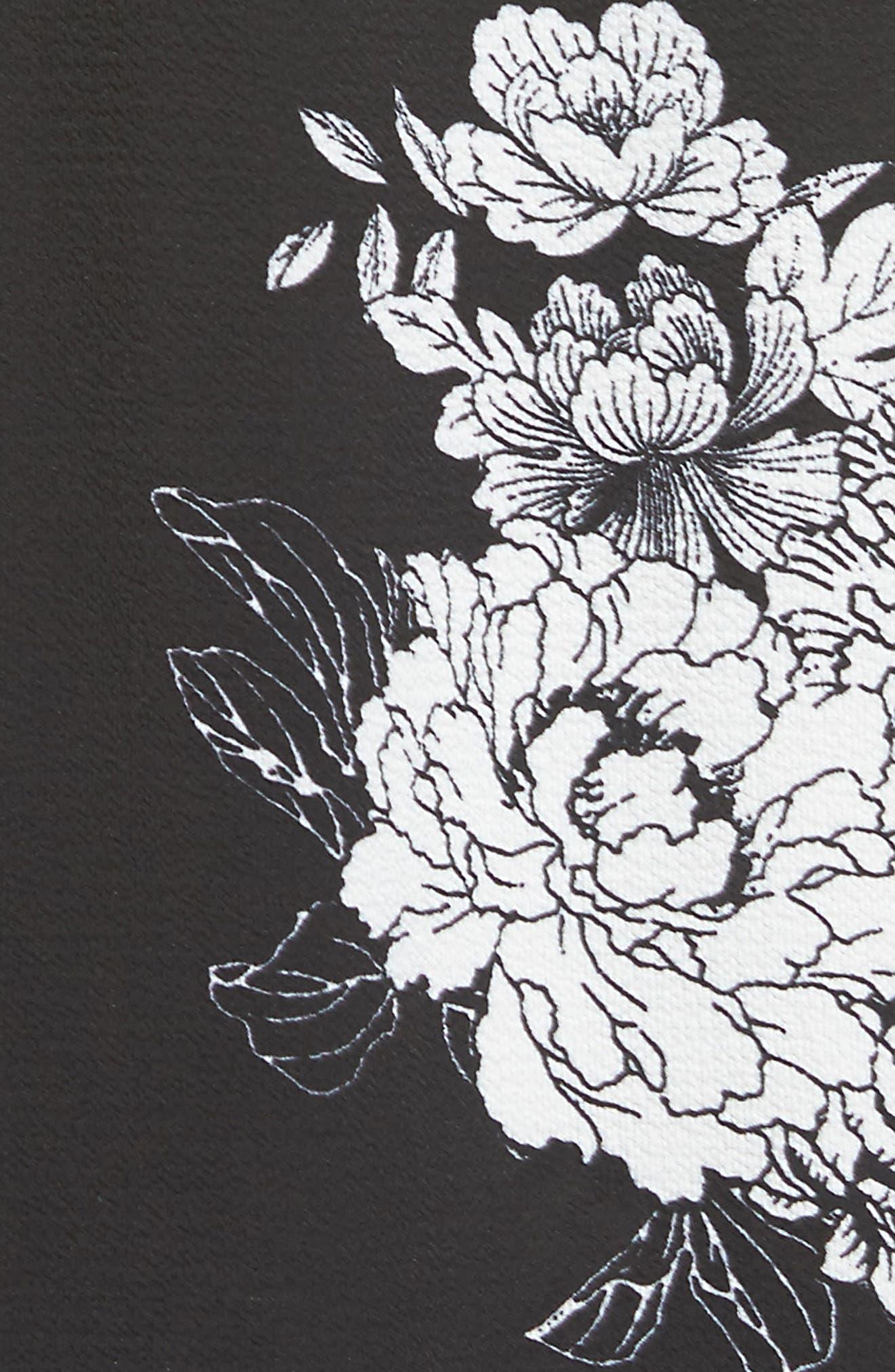 Smocked Strapless Maxi Dress,                             Alternate thumbnail 5, color,                             001