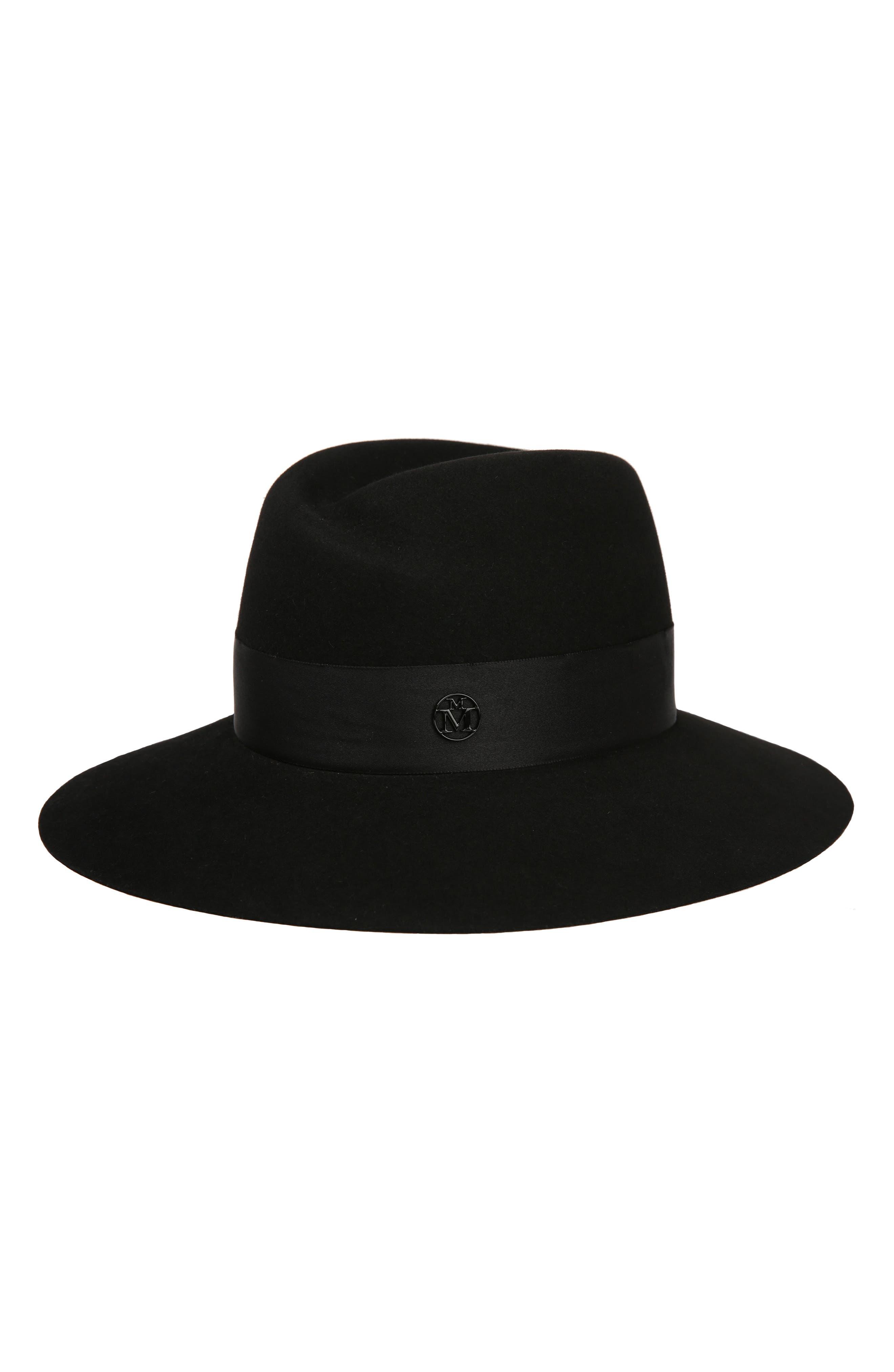 Virginie Fur Felt Hat,                             Main thumbnail 1, color,                             002