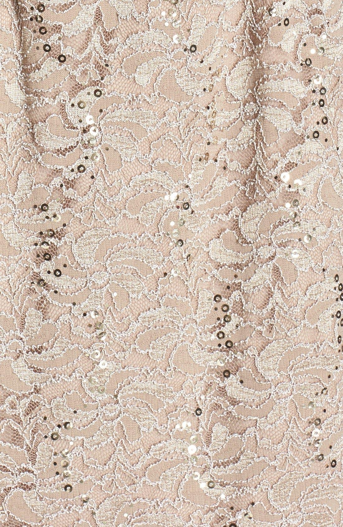 Lace Dress & Jacket,                             Alternate thumbnail 7, color,                             CHAMPAGNE