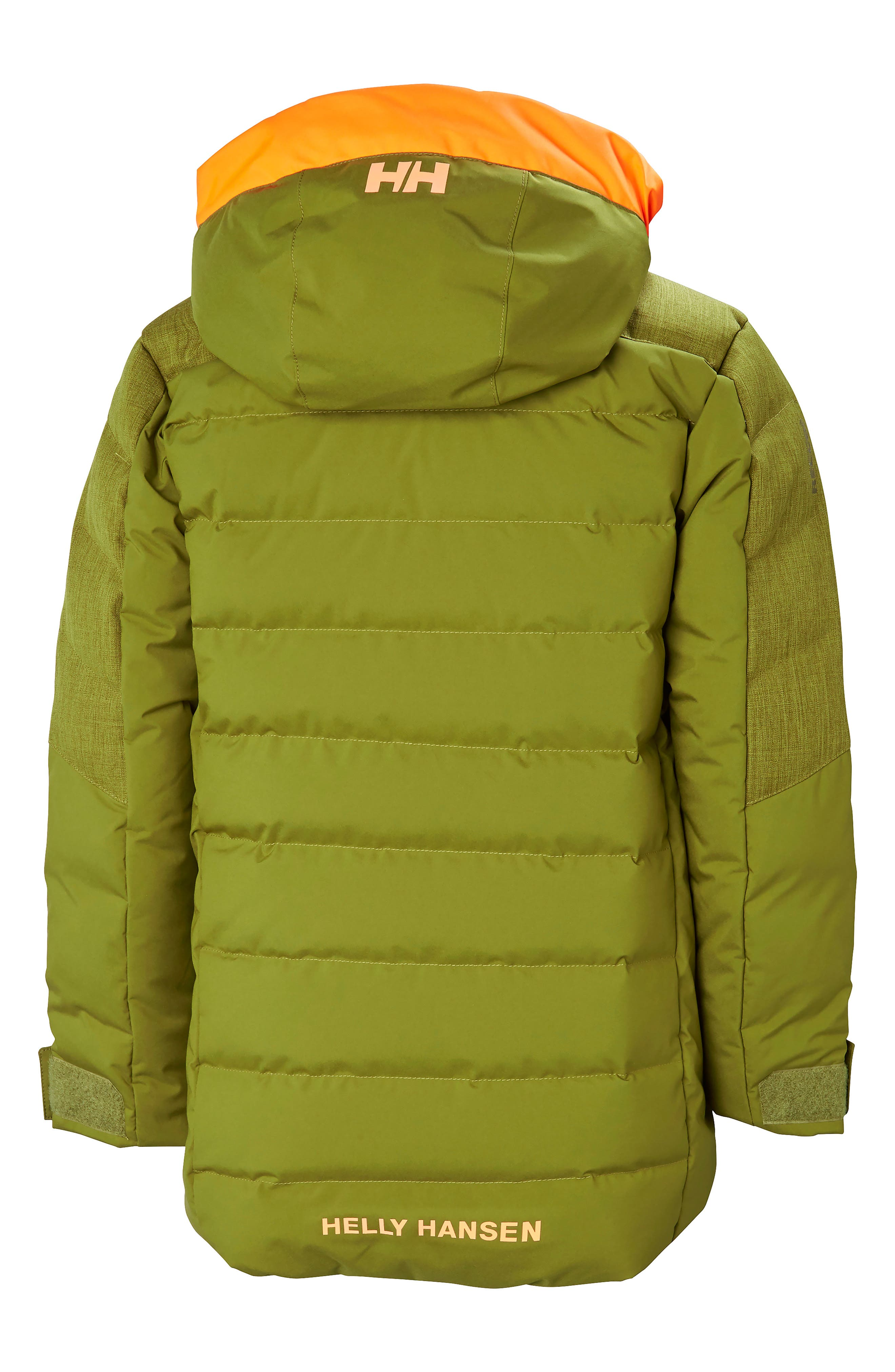Jr. North Waterproof & Windproof 480-Fill Power Down Jacket,                             Alternate thumbnail 2, color,                             FIR GREEN