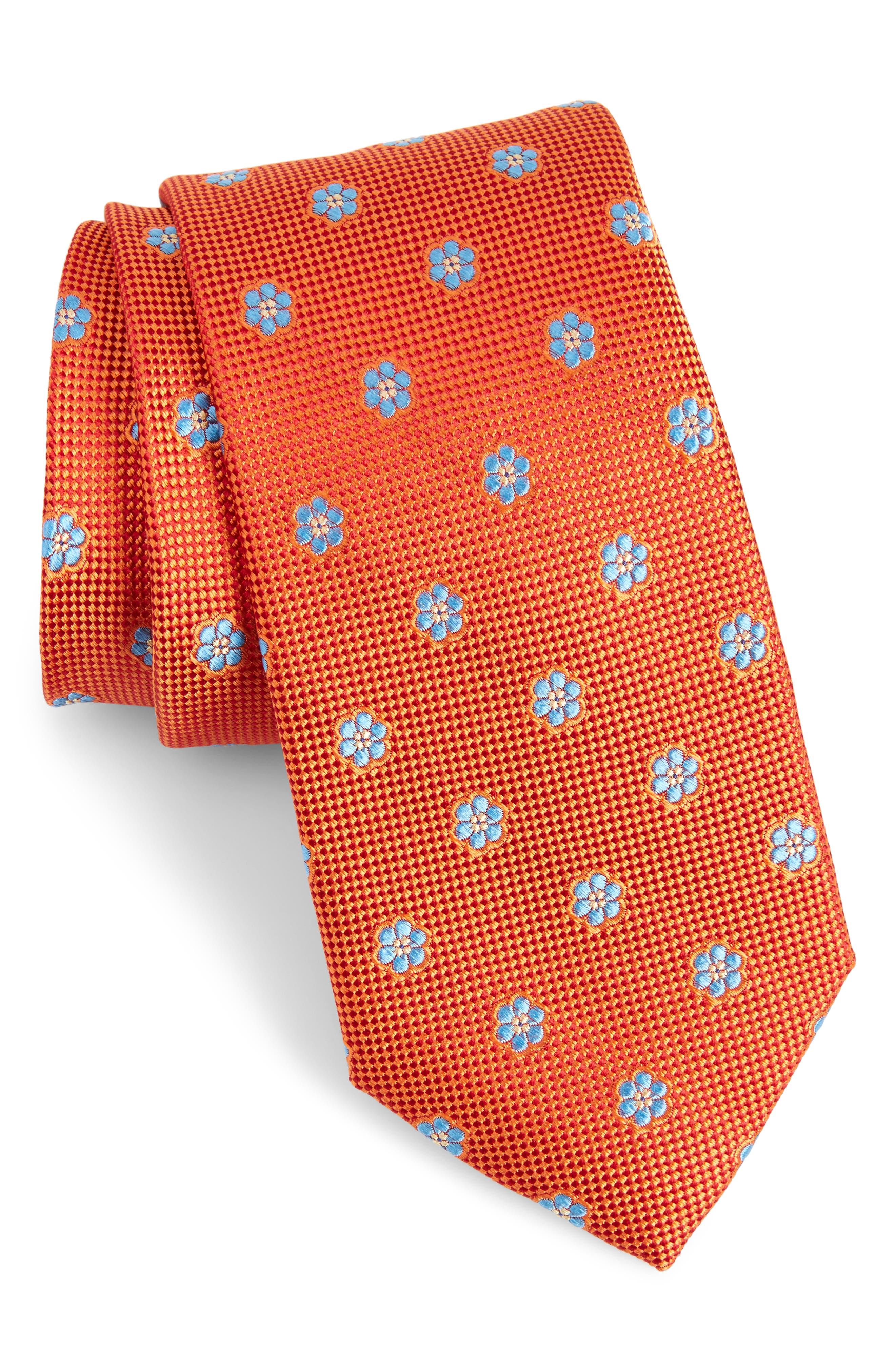 Calibrate Cloisters Neat Silk Tie,                             Main thumbnail 8, color,