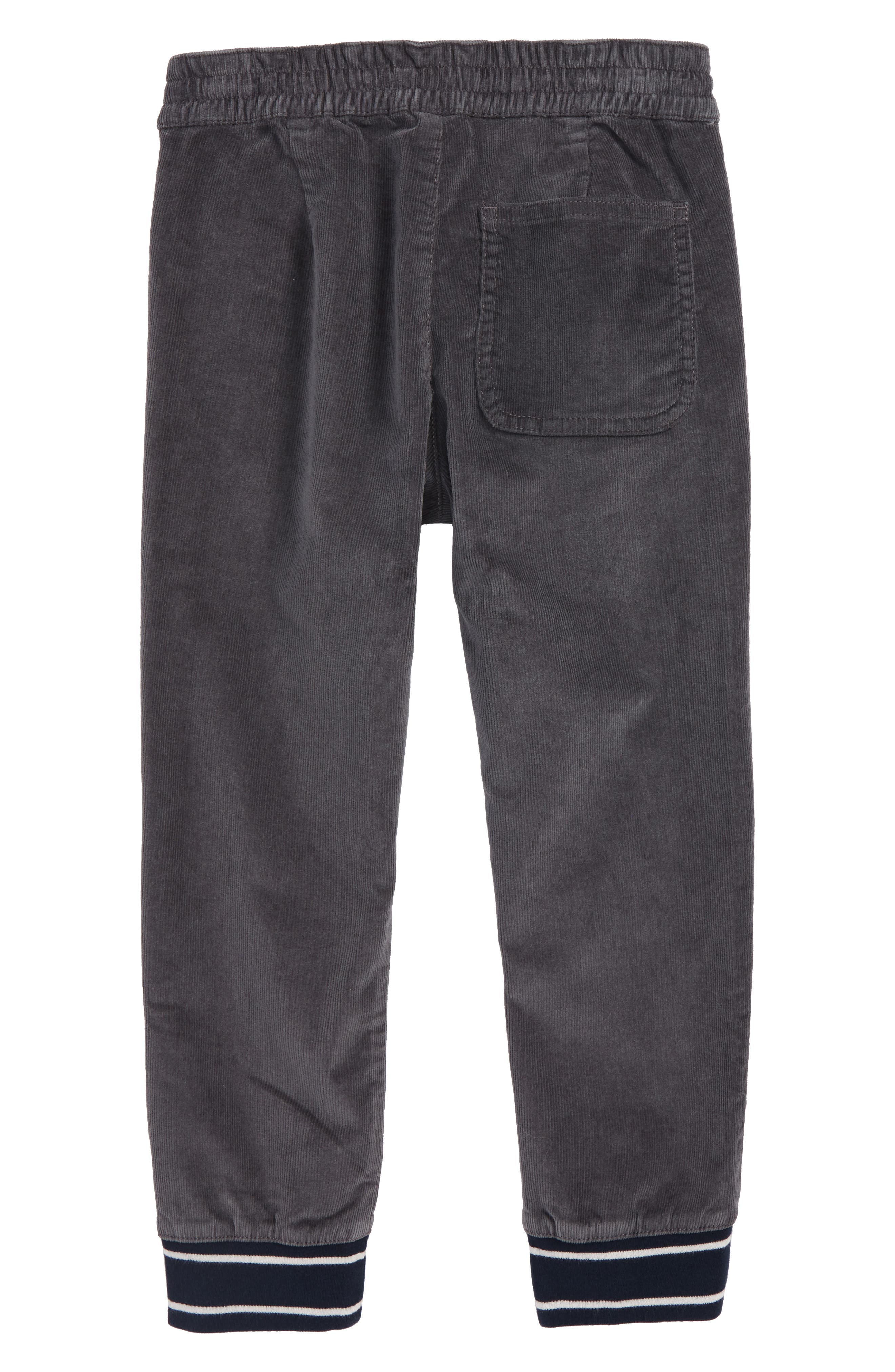 Corduroy Pull-On Pants,                             Alternate thumbnail 2, color,                             COAL GREY