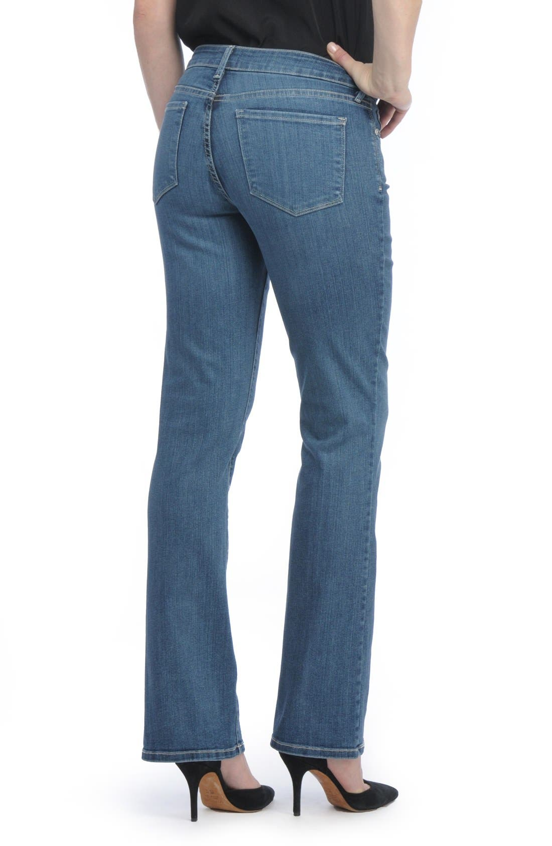 Barbara Stretch Bootcut Jeans,                             Alternate thumbnail 6, color,                             HEYBURN