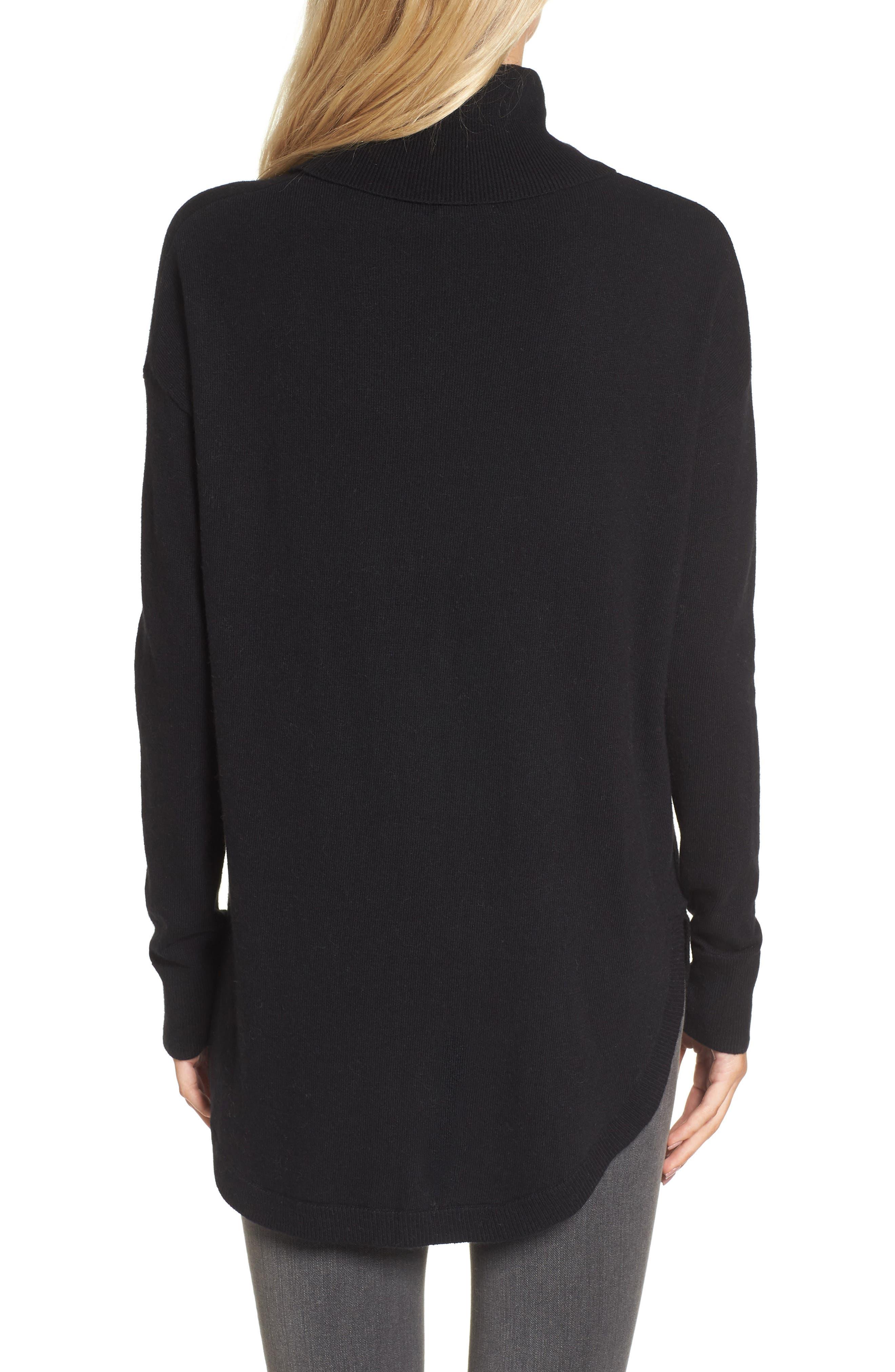 Turtleneck Sweater,                             Alternate thumbnail 2, color,                             001