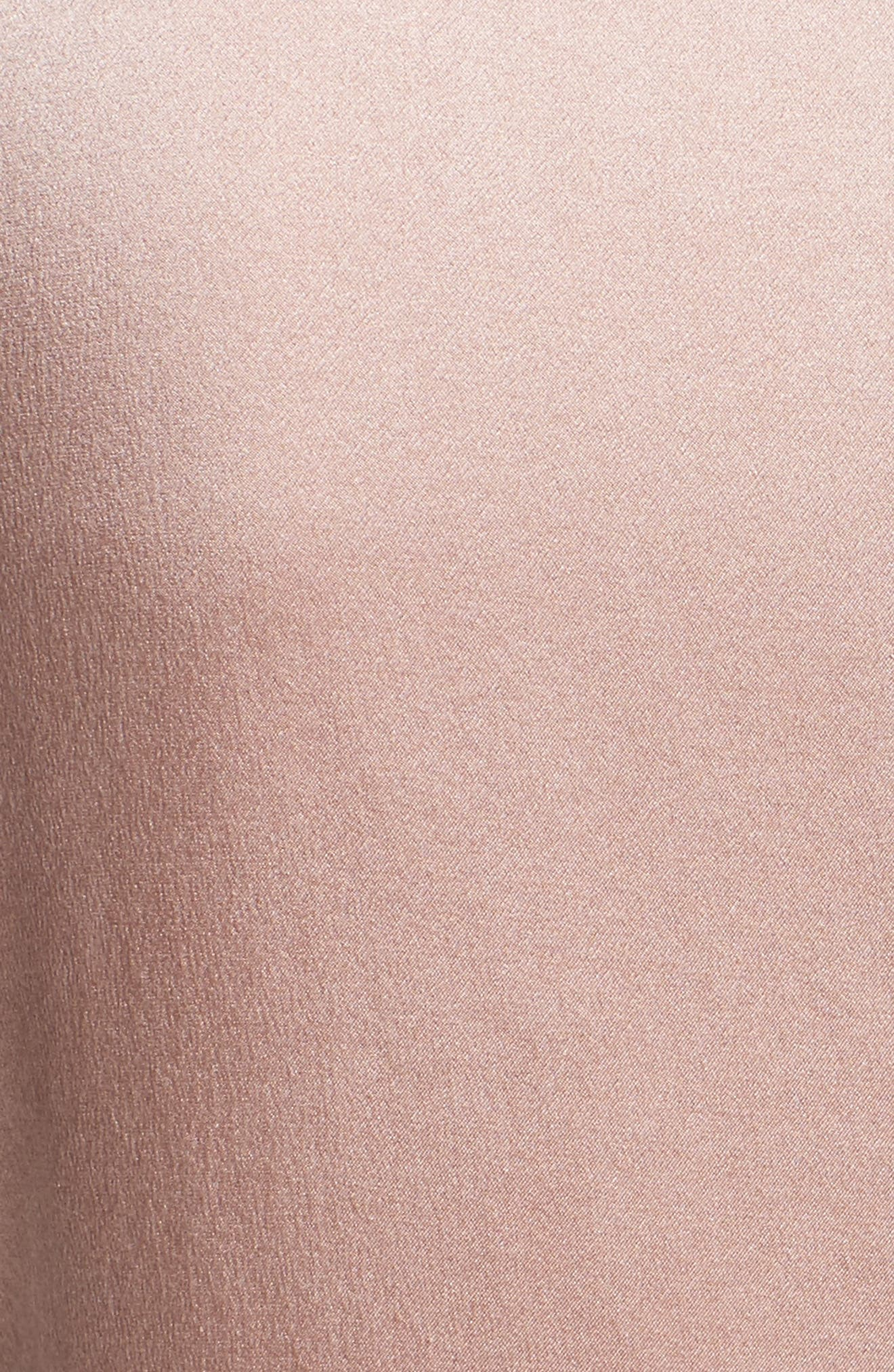 Cathy Tie Neck Silk Dress,                             Alternate thumbnail 6, color,