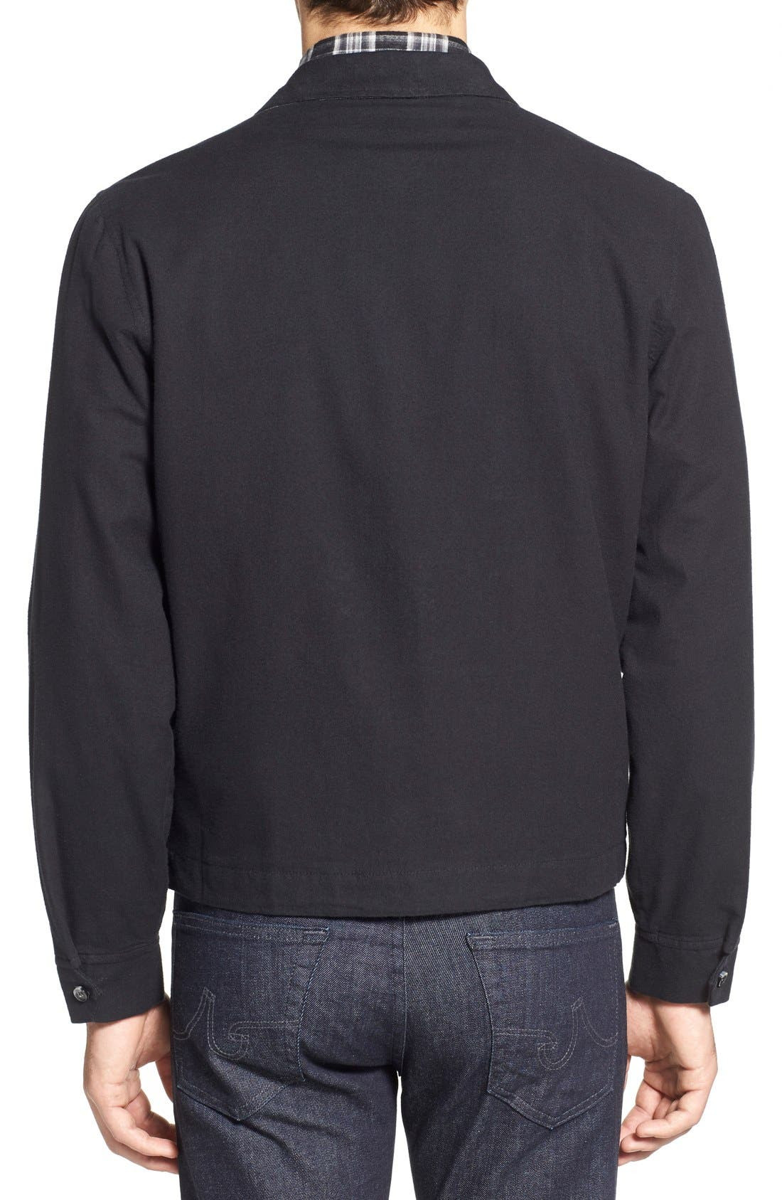'Sedona' Zip Front Canvas Jacket,                             Alternate thumbnail 4, color,                             001