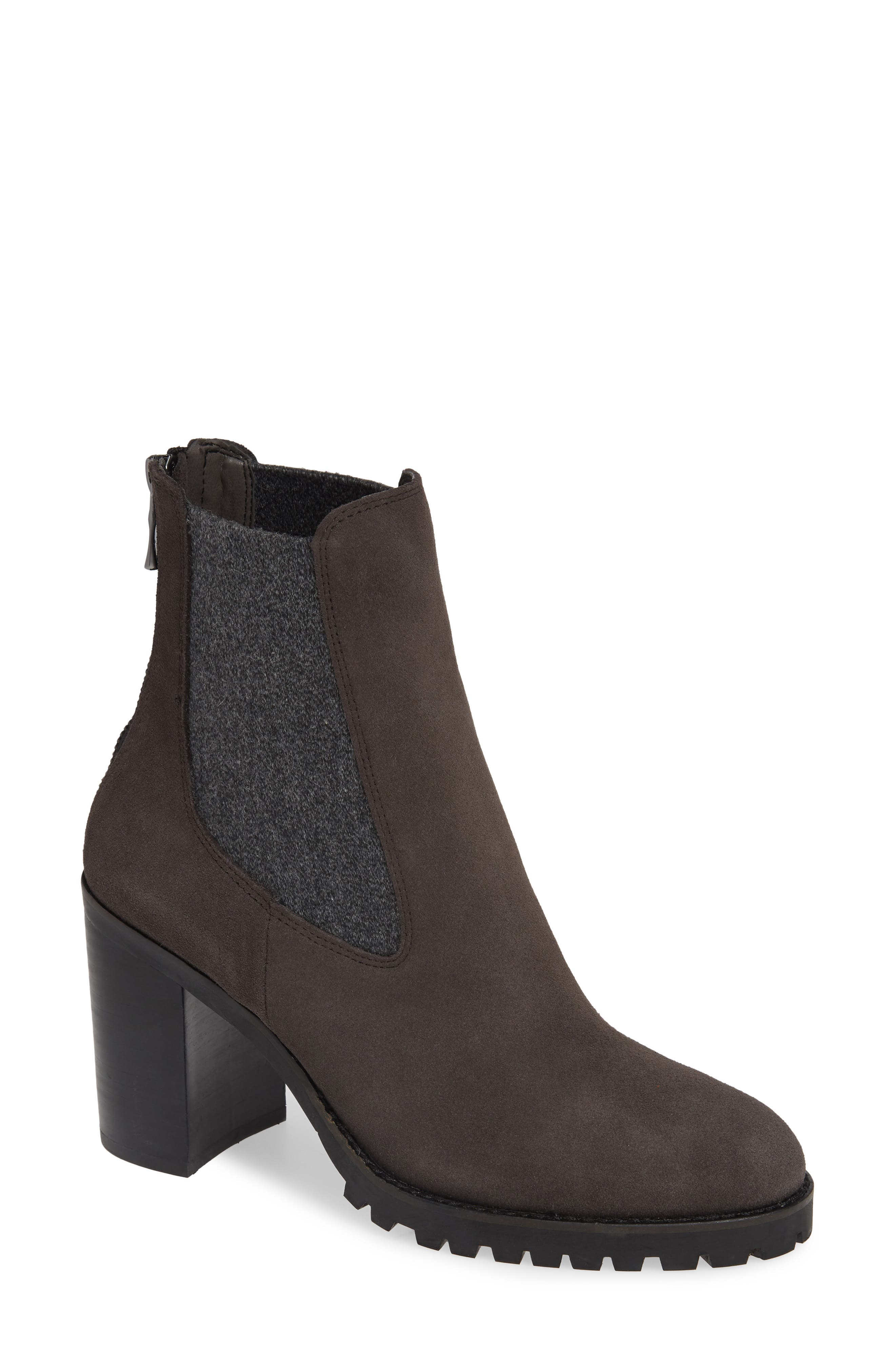 Chinese Laundry Jersey Zip Chelsea Bootie- Grey