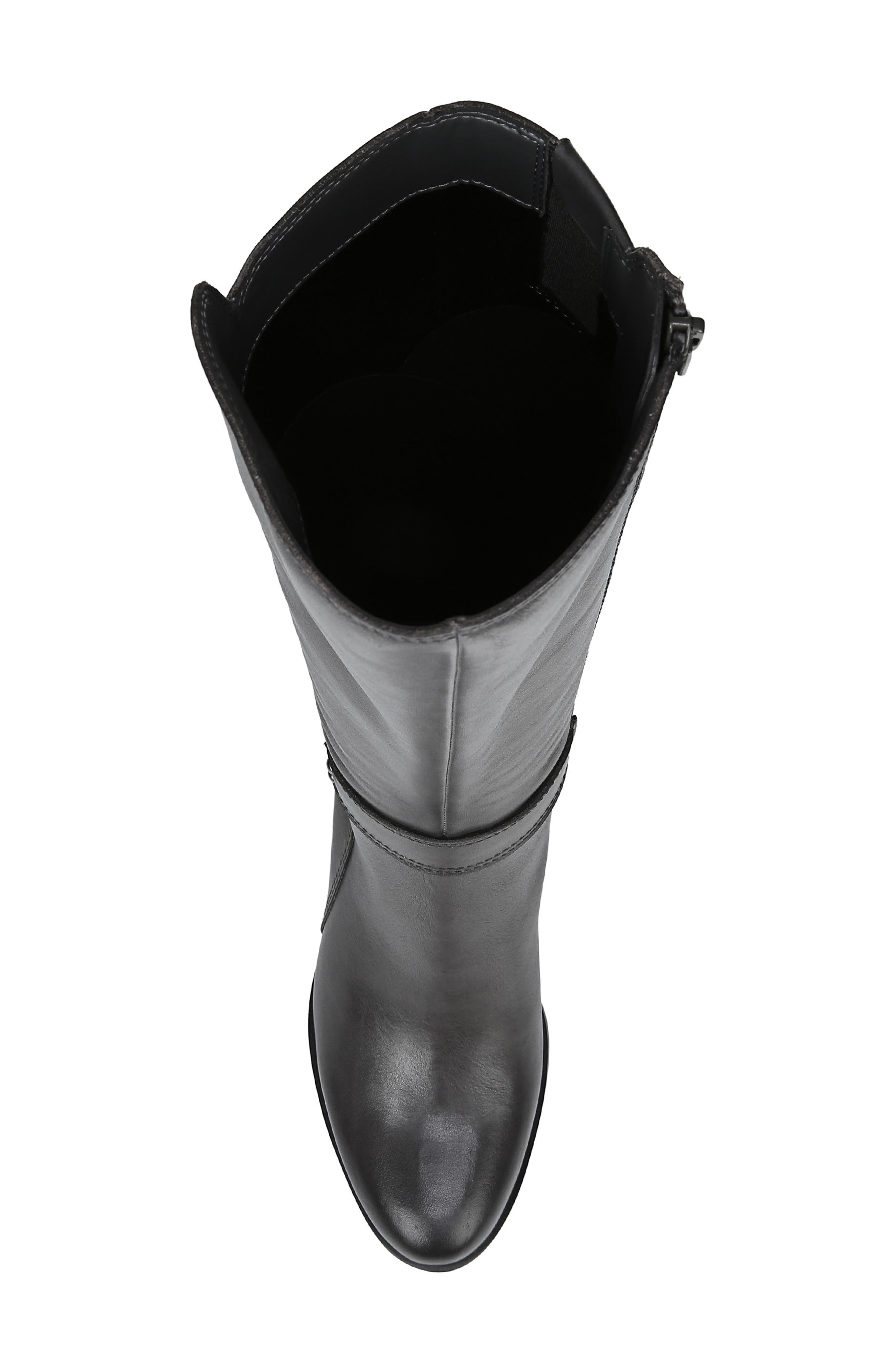 Dane Knee High Riding Boot,                             Alternate thumbnail 5, color,                             GREY LEATHER