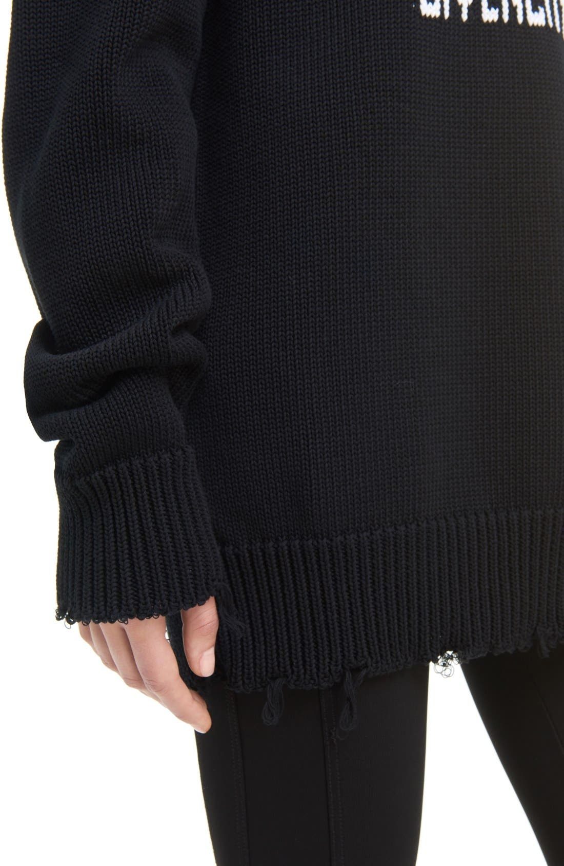GIVENCHY,                             I Feel Love Cotton Sweater,                             Alternate thumbnail 6, color,                             004