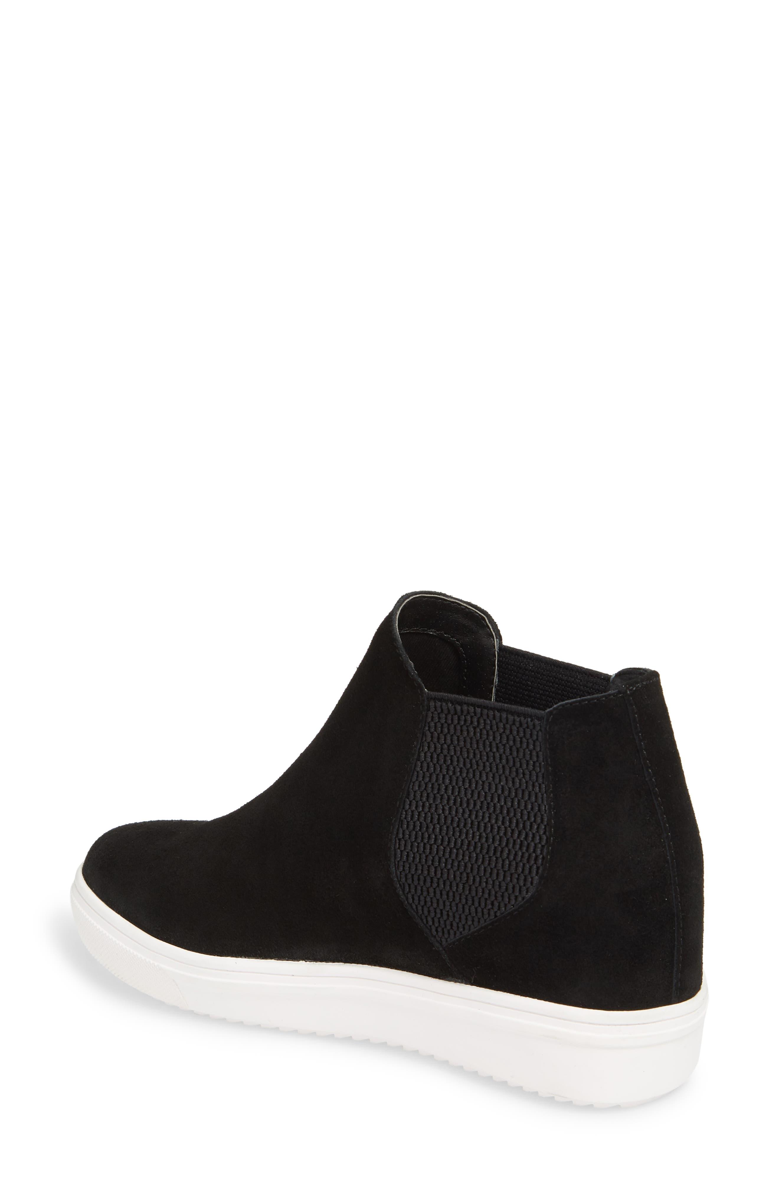 Sultan Chelsea Wedge Sneaker,                             Alternate thumbnail 2, color,                             BLACK SUEDE