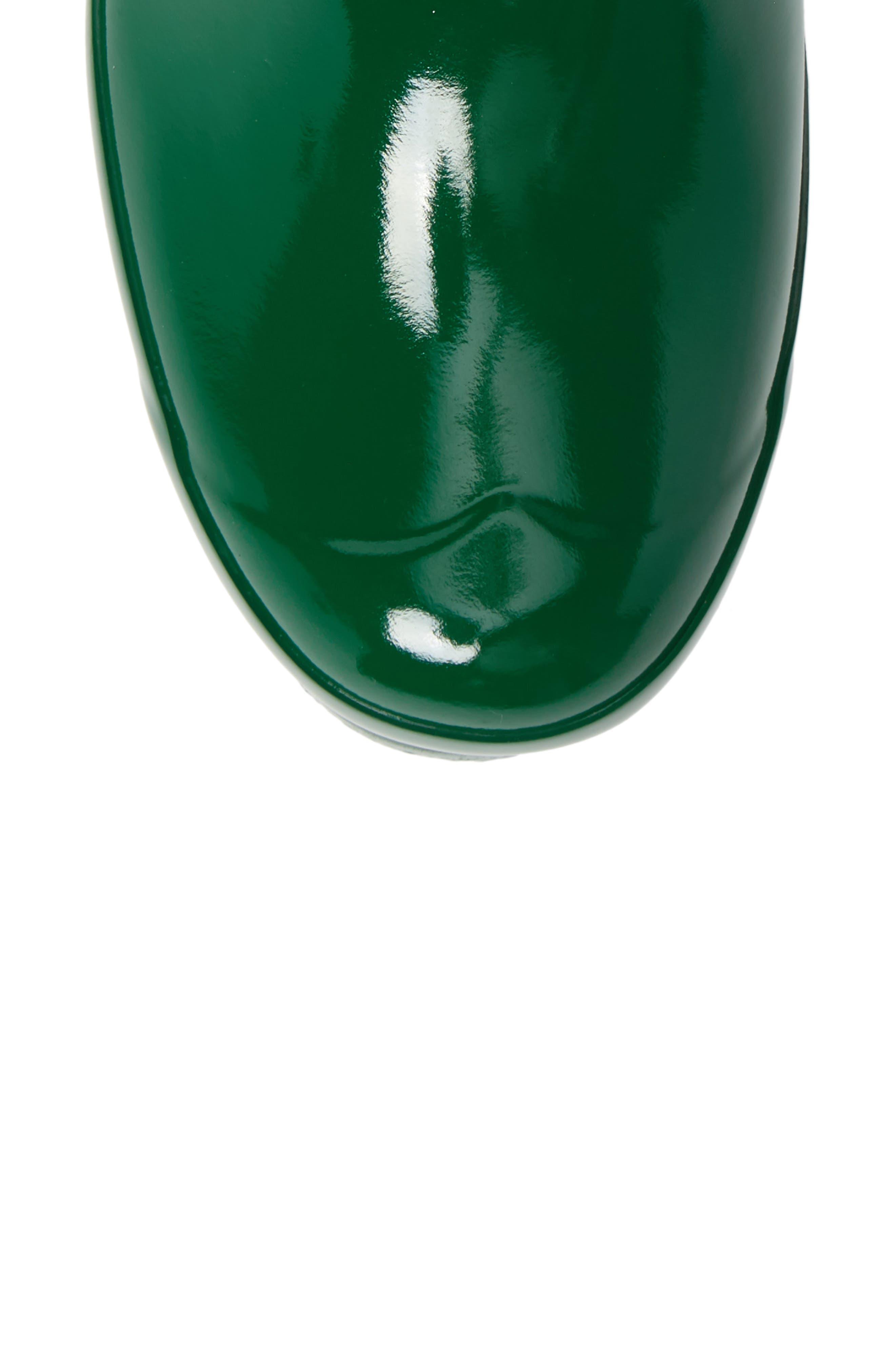 Original Short Adjustable Back Gloss Rain Boot,                             Alternate thumbnail 5, color,                             HYPER GREEN