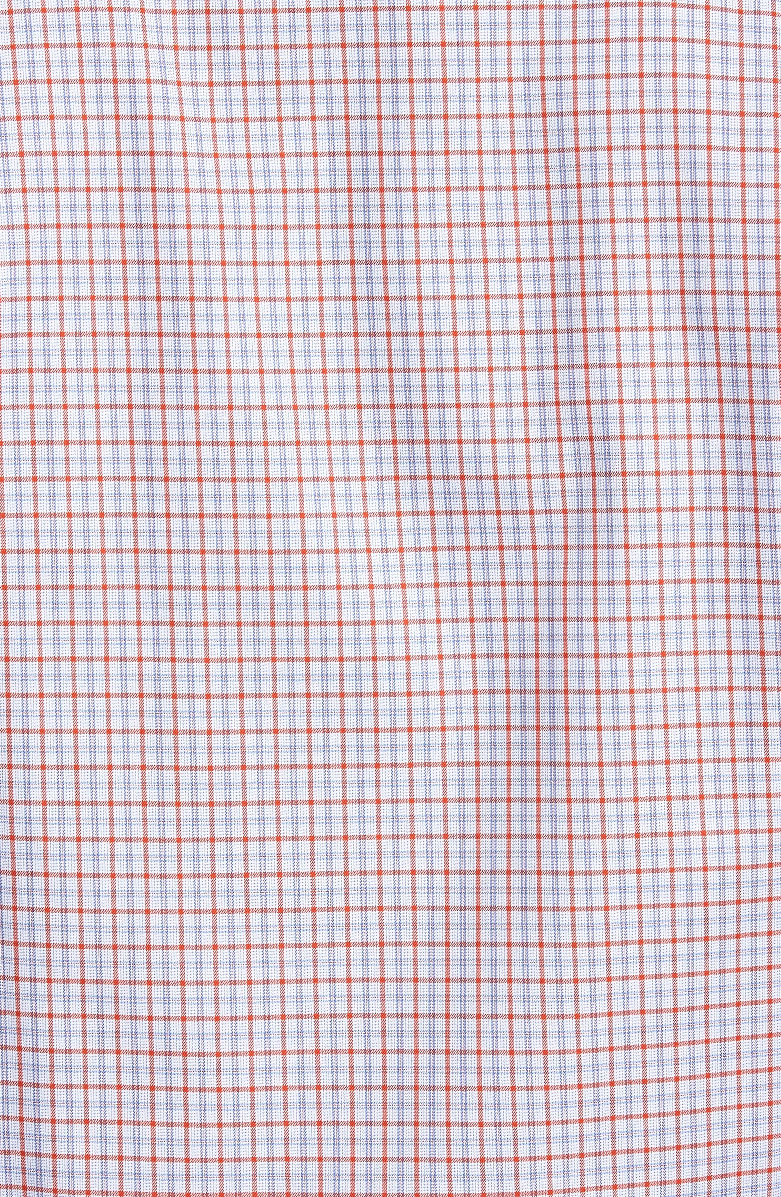 Regular Fit Plaid Sport Shirt,                             Alternate thumbnail 5, color,                             804