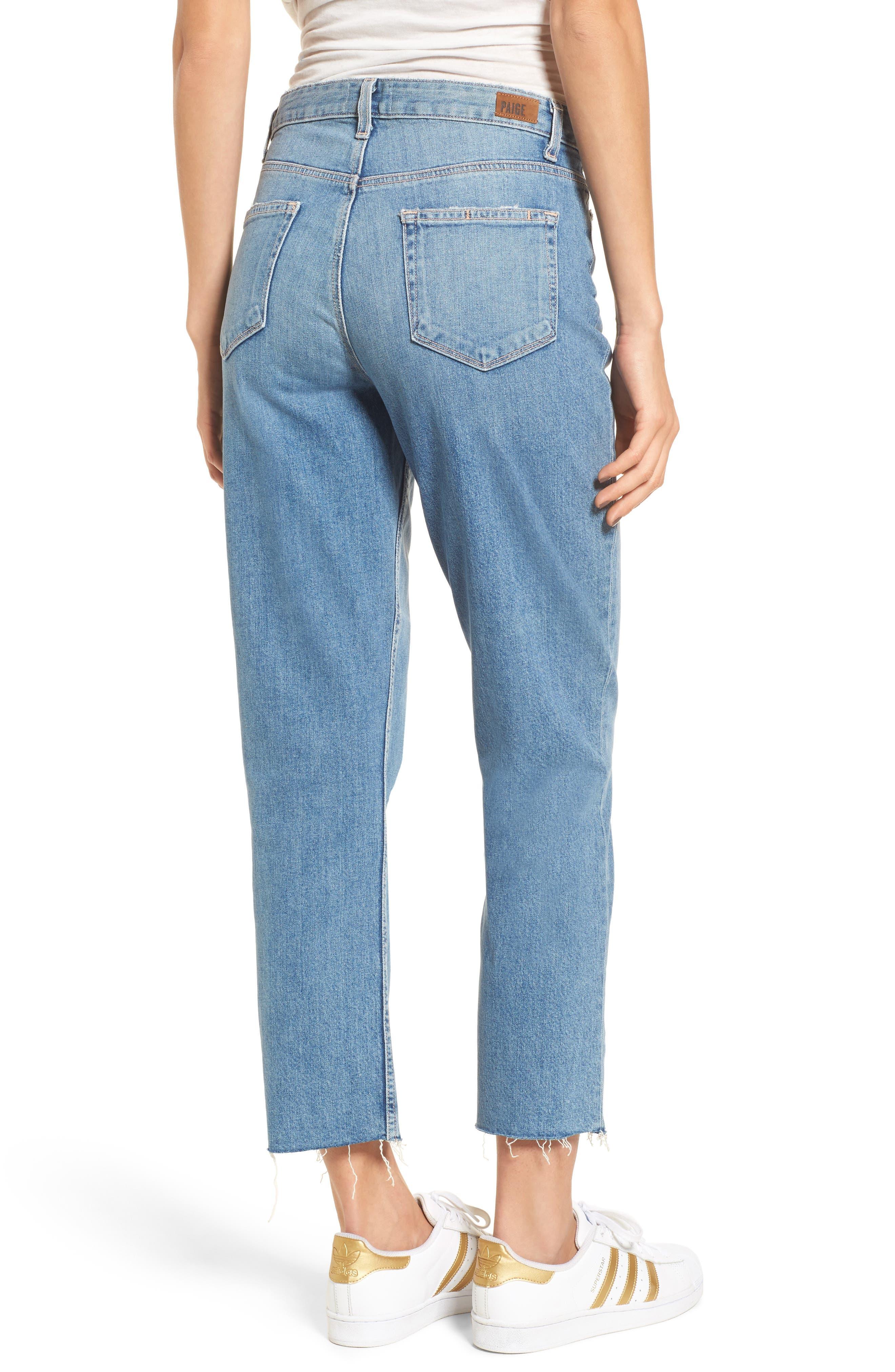 Vintage - Sarah High Waist Crop Straight Leg Jeans,                             Alternate thumbnail 2, color,                             400