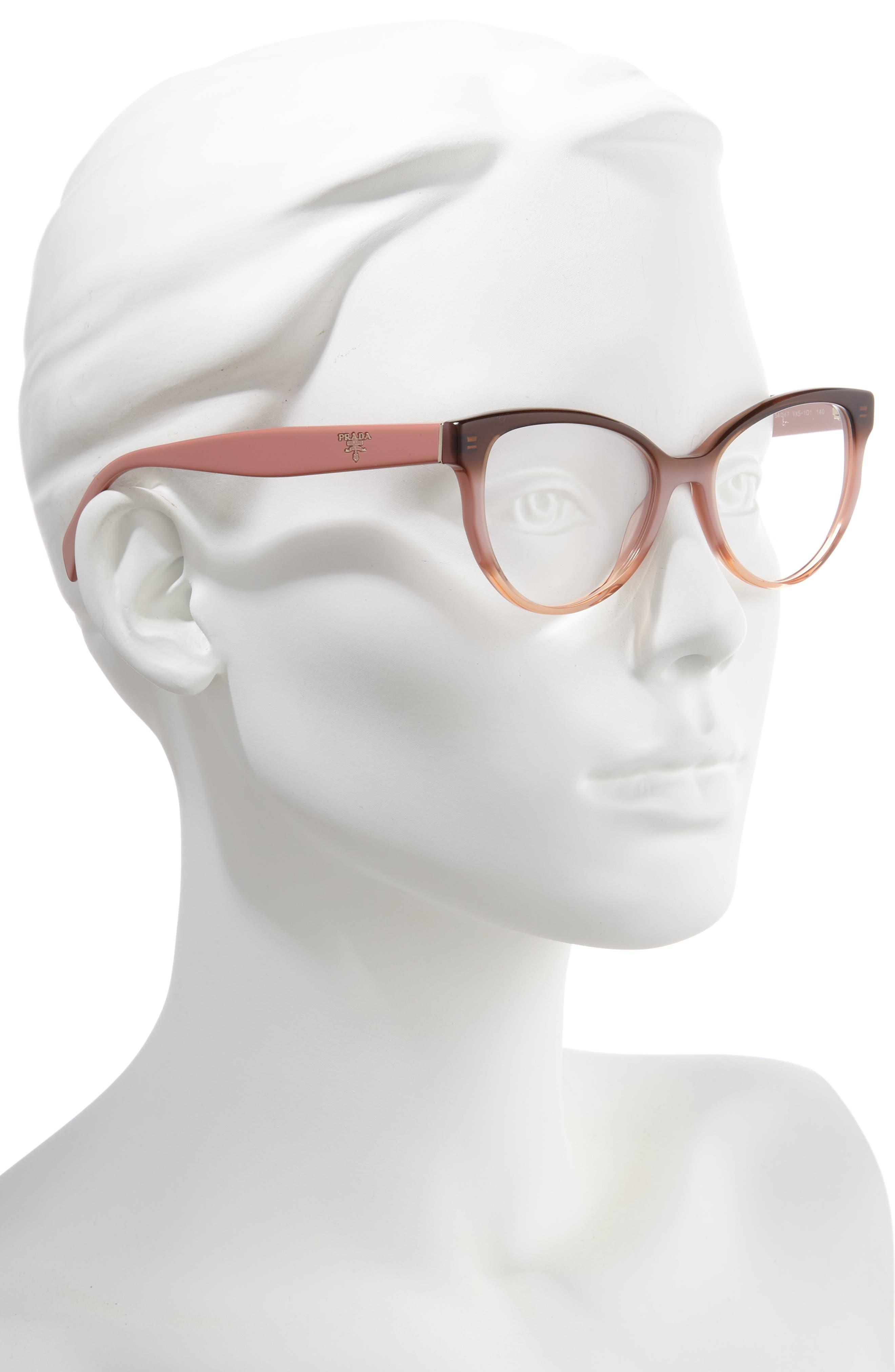 PRADA,                             54mm Cat Eye Optical Glasses,                             Alternate thumbnail 2, color,                             200