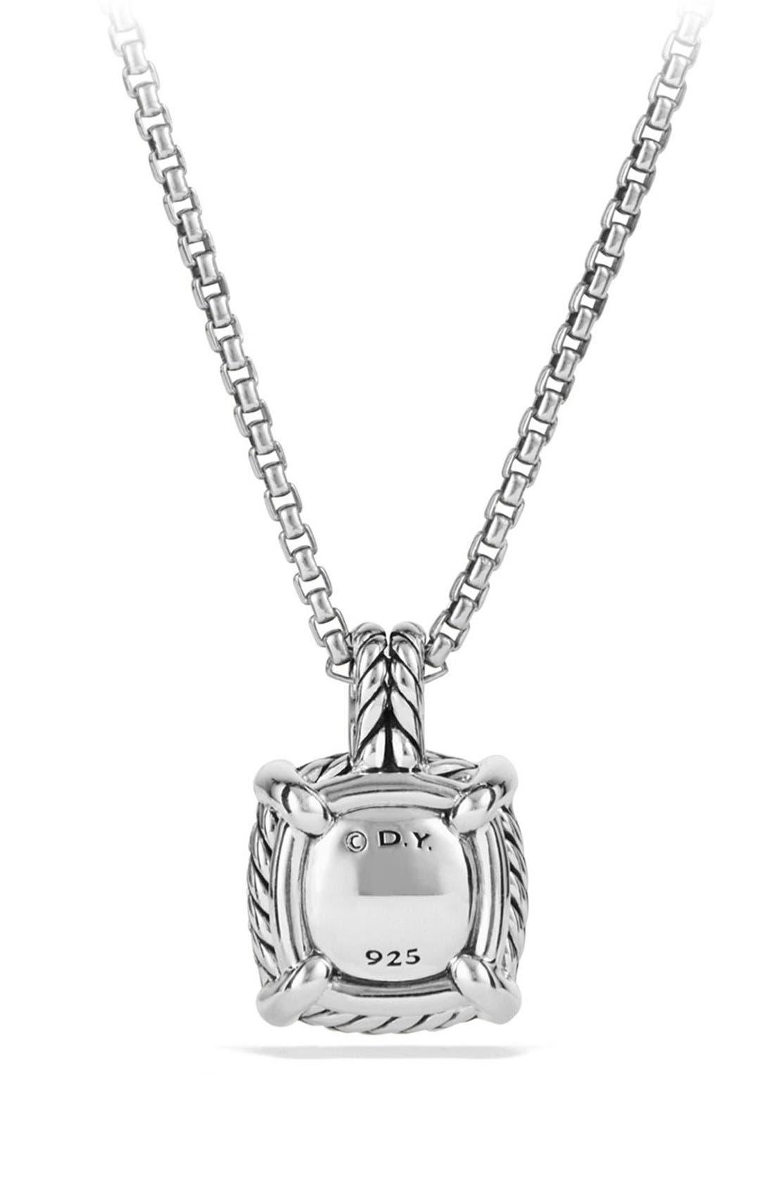 'Châtelaine' Small Pavé Bezel Pendant Necklace with Diamonds,                             Alternate thumbnail 4, color,                             BLACK ONYX