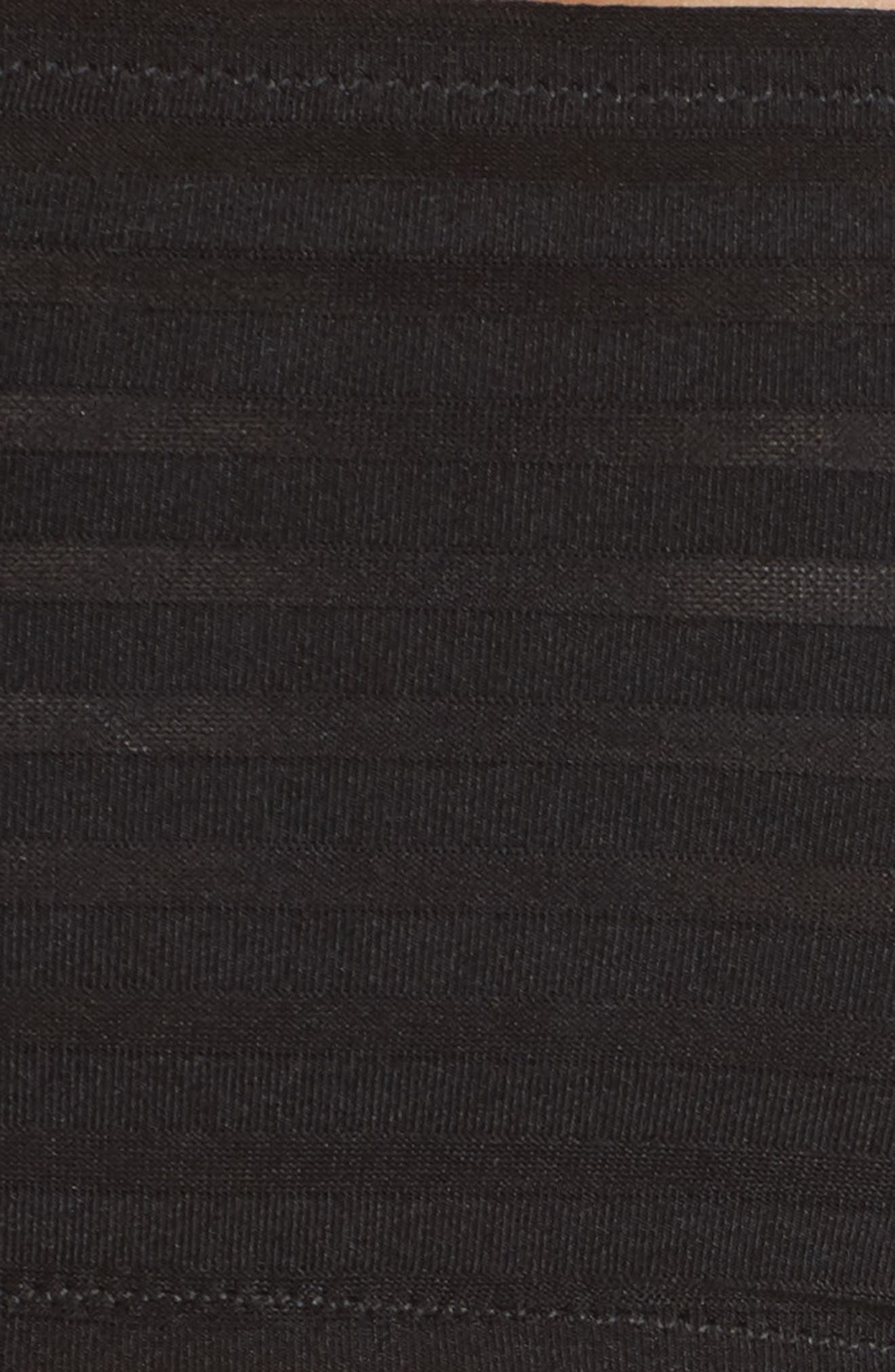Sheer Stripe Bandeau Bralette,                             Alternate thumbnail 7, color,                             001