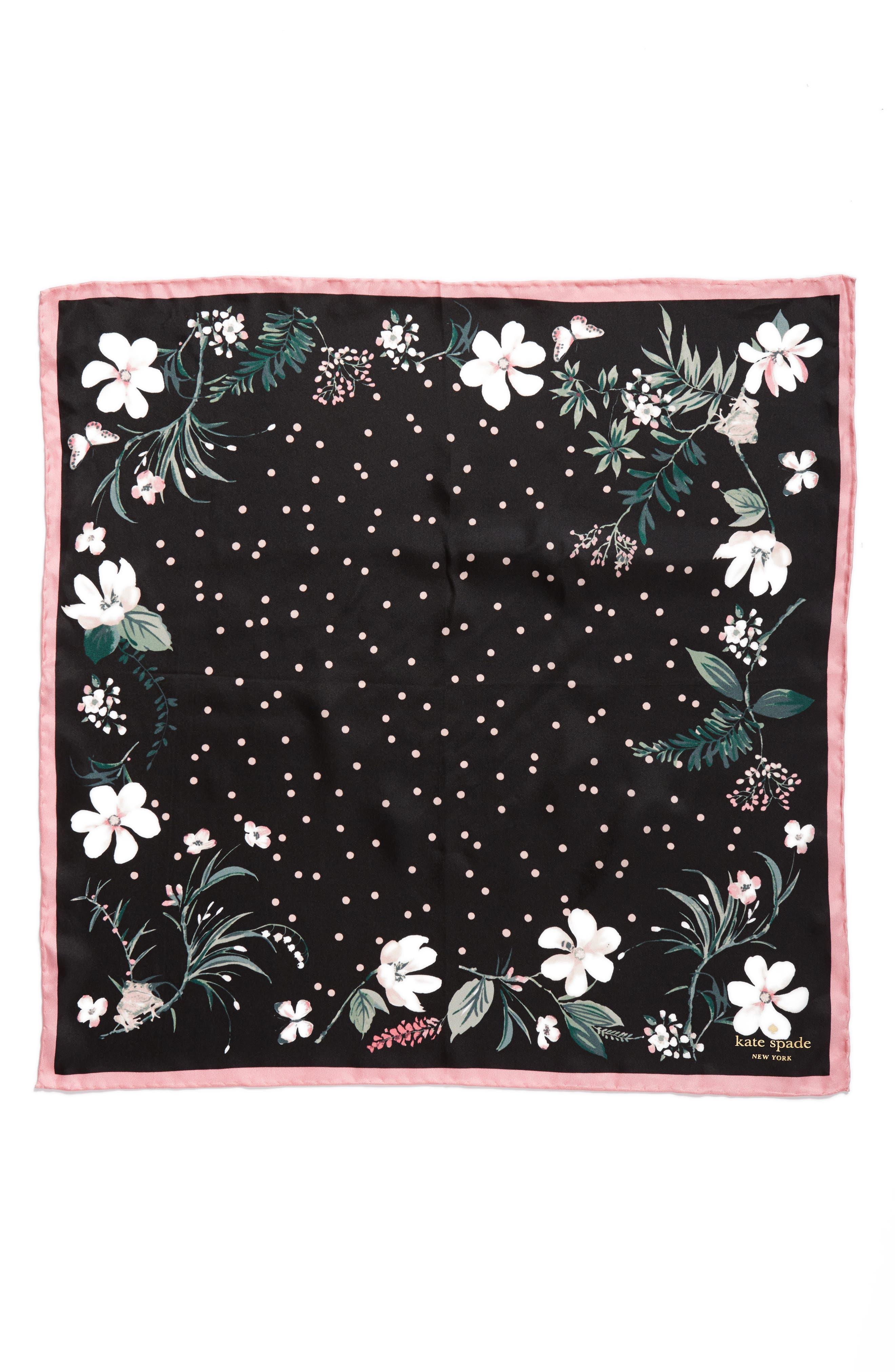 botanical silk bandana,                             Alternate thumbnail 3, color,                             001