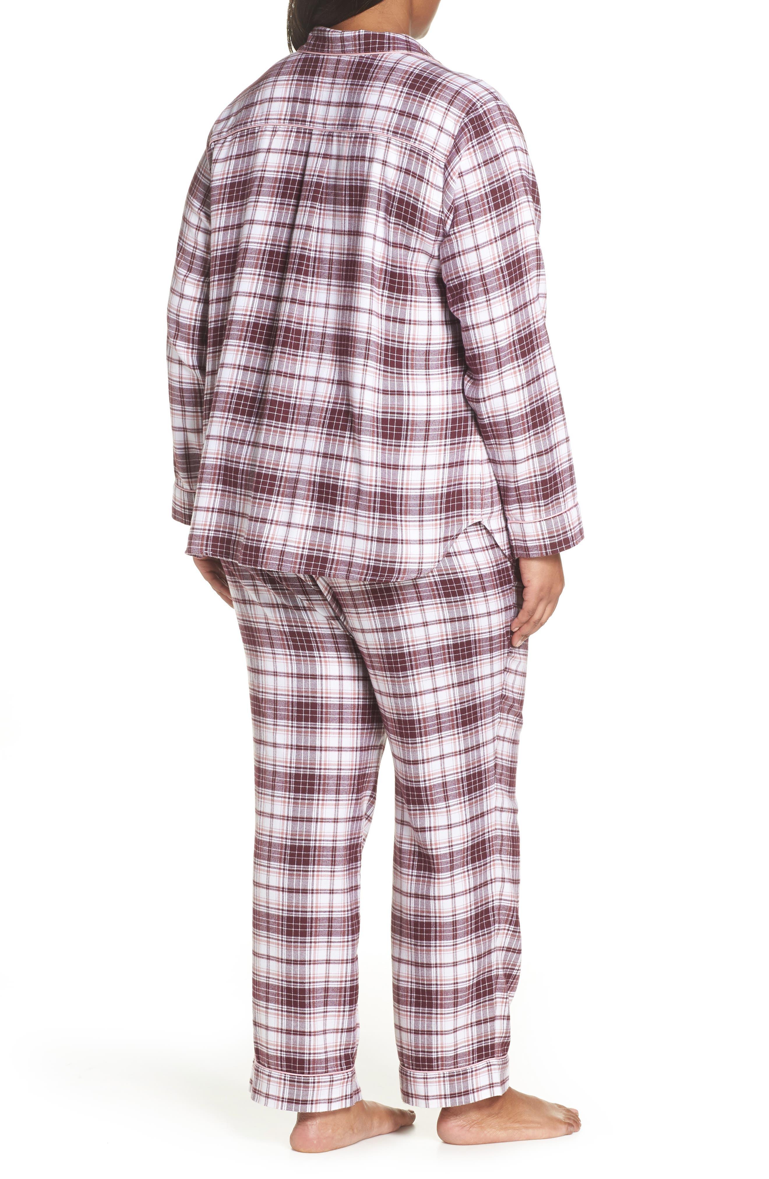 Raven Plaid Pajamas,                             Alternate thumbnail 2, color,                             PORT PLAID