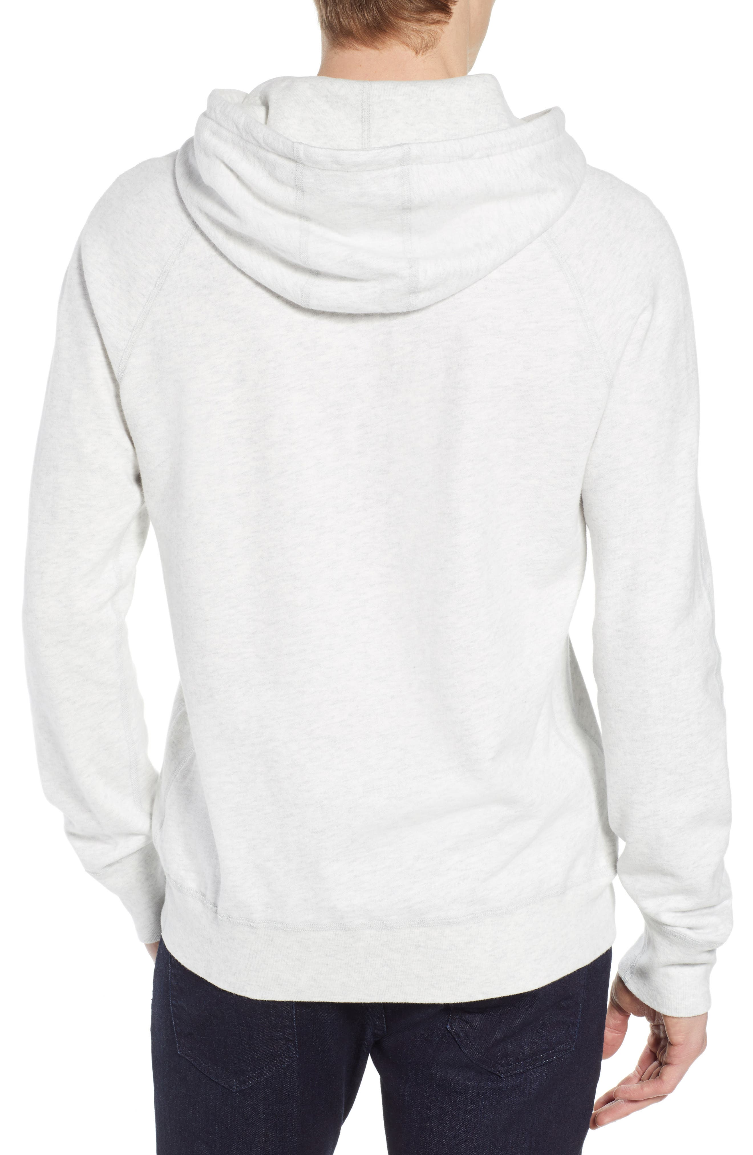 Lightweight Terry Pullover Hoodie,                             Alternate thumbnail 2, color,                             HEATHER ASH