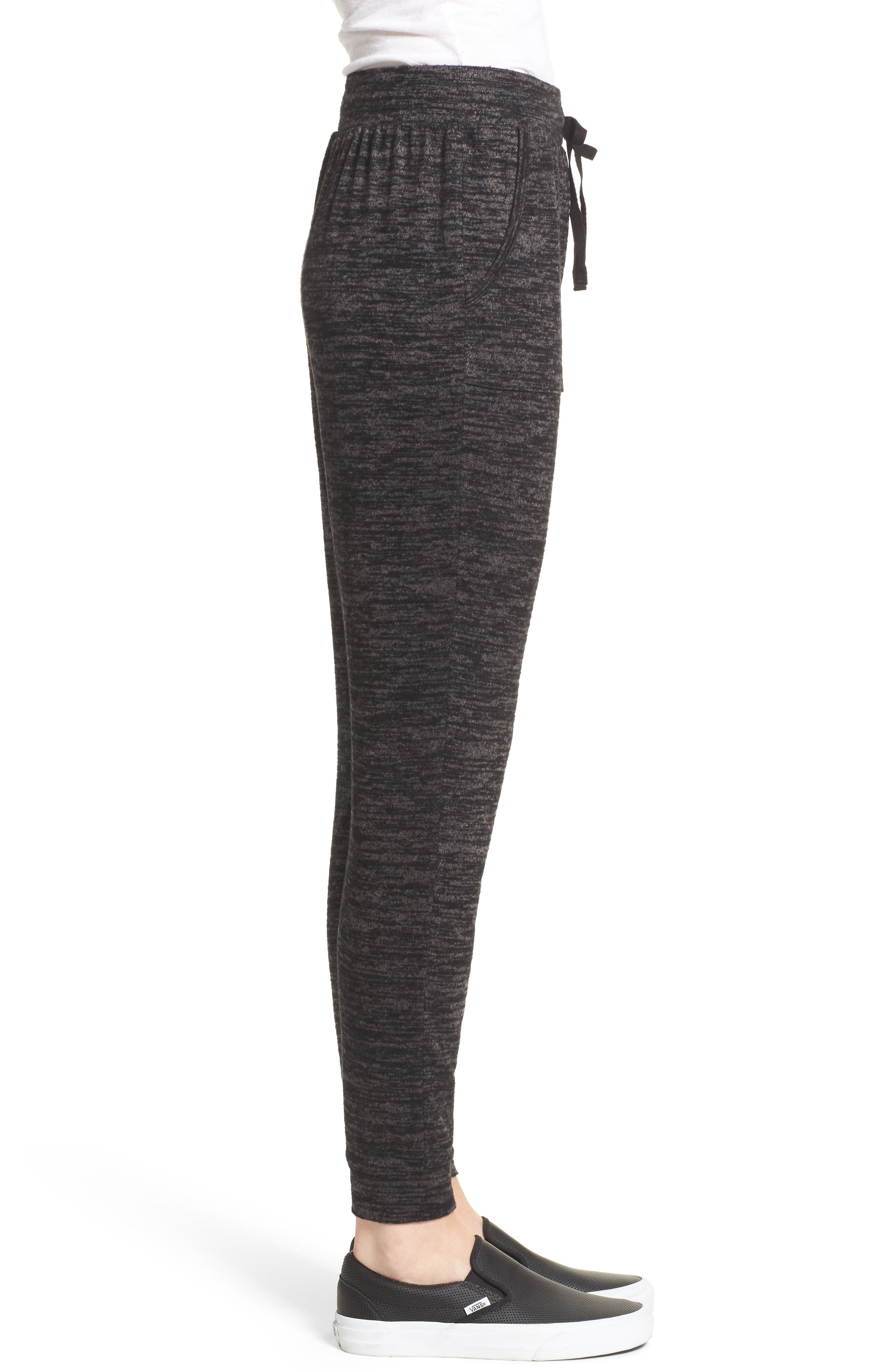 Stretch Knit Joggers,                             Alternate thumbnail 3, color,                             001