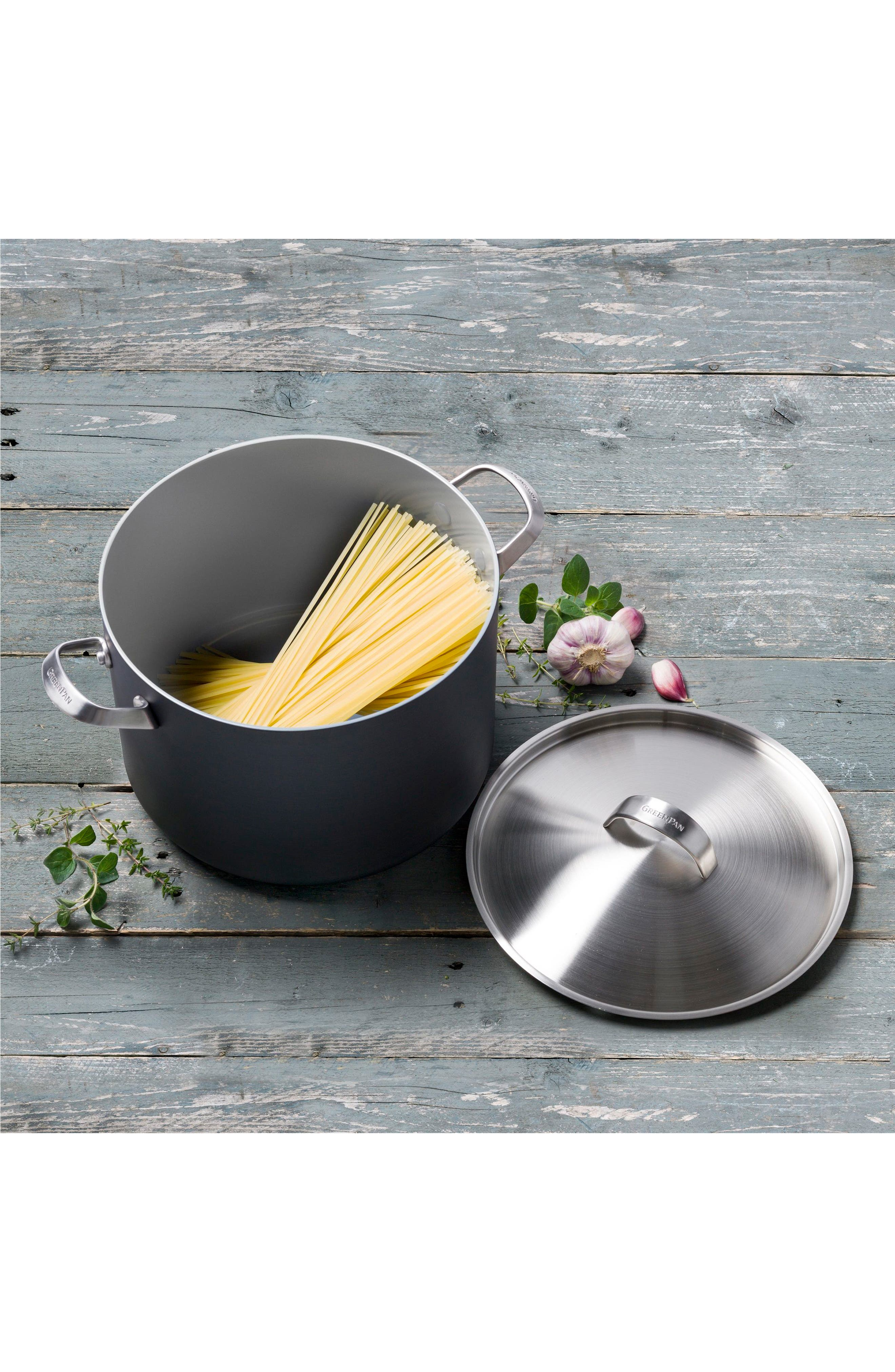 Paris 8-Quart Multilayer Stainless Steel Ceramic Nonstick Stockpot with Lid,                             Alternate thumbnail 3, color,                             GREY