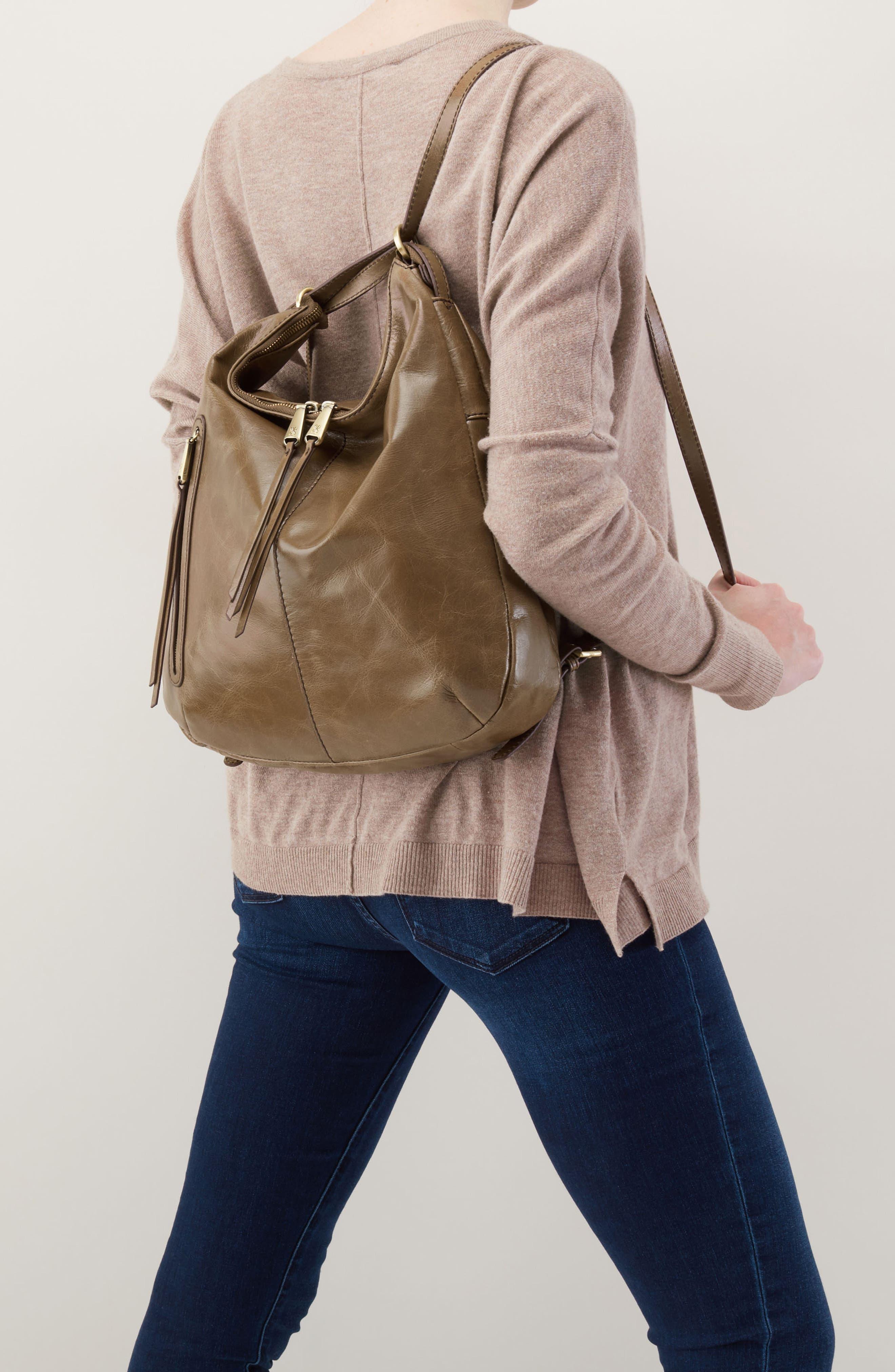 Merrin Leather Backpack,                             Alternate thumbnail 4, color,                             MINK
