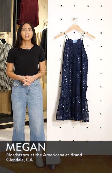 Sequin Ruffle Trim Dress, sales video thumbnail